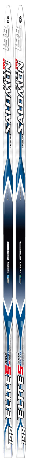 Ski Recreational classic ski designed for maximum stability, control and ease. G2 Plus waxless technology combined with low heel-toe camber enables a very easy kick.Key Features of the Salomon Elite 5 Grip Cross Country Skis: Sidecut type: S-Cut Ski Construction: Heel toe camber Grip technology: G2 Plus Core: Densolite 1000 Base: G1 base Weight 1320 Type classic waxless - $127.95