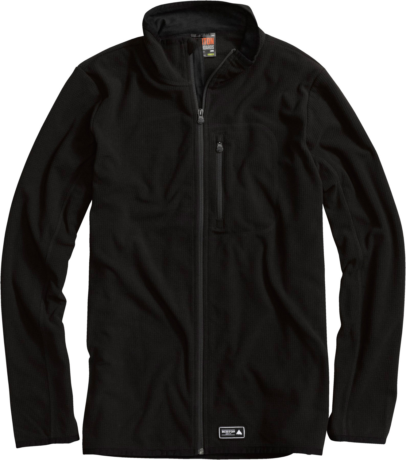 Snowboard Heat-seeking straight liner-clean and simple, no-nonsense warmth.Key Features of the Burton Groove Fleece: Lightweight DRYRIDE Thermex Grid Fleece [70% Recycled PET] Zippered Chest Pocket Binding at Cuffs and Hem Profile Fit for Street Style or Layering Ideal for Year-Round Outdoor Activity - $84.95