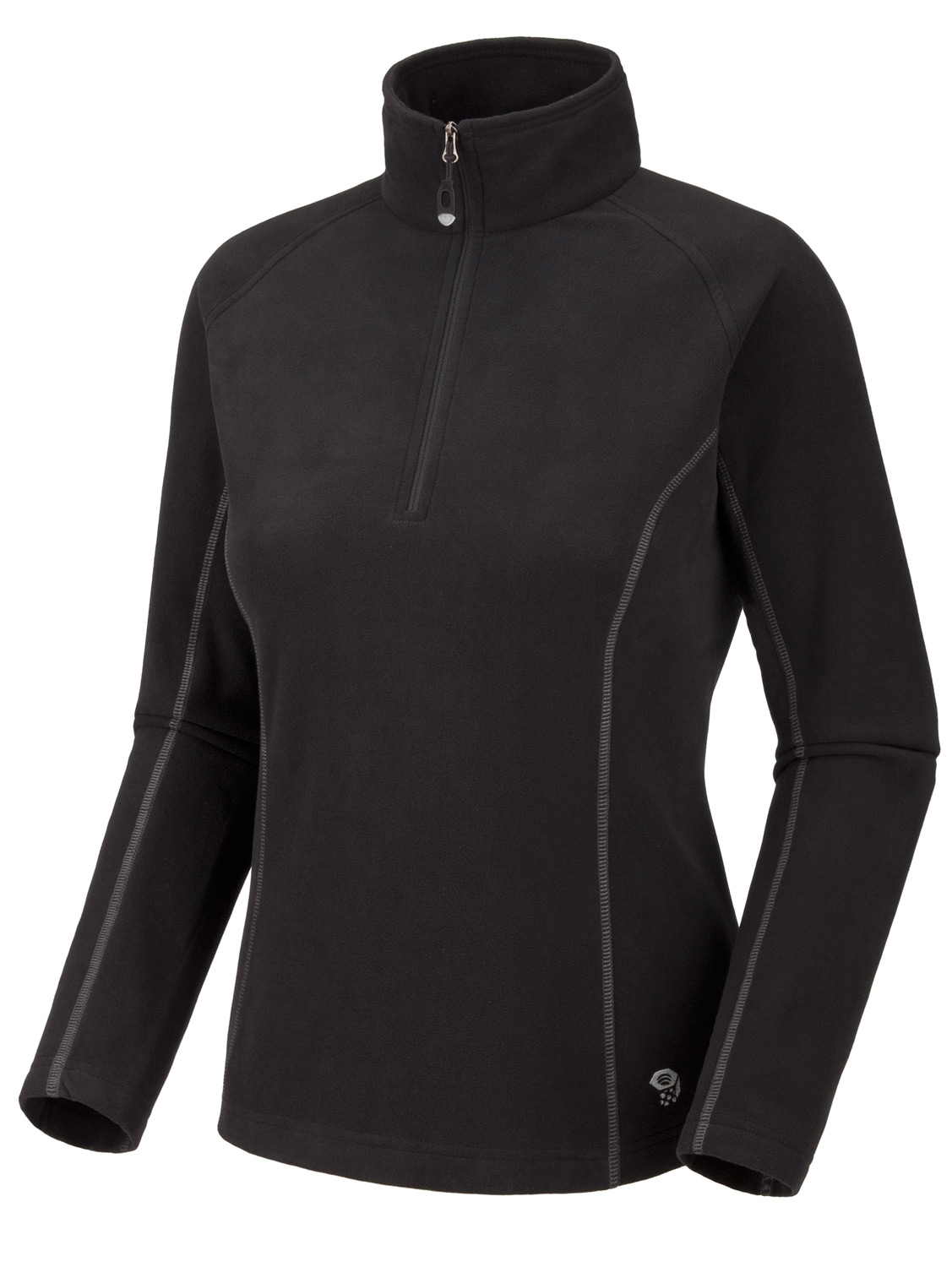 "Key Features of the Mountain Hardwear Microchill Zip T Fleece: High-cut collar with 11"" zip for thermoregulation Flat-lock construction eliminates chafe AVG. WEIGHT: 7 oz; 210 g CENTER BACK LENGTH: 25""; 64 cm FABRIC: body: Velous Micro Fleece (100% polyester) - $54.95"