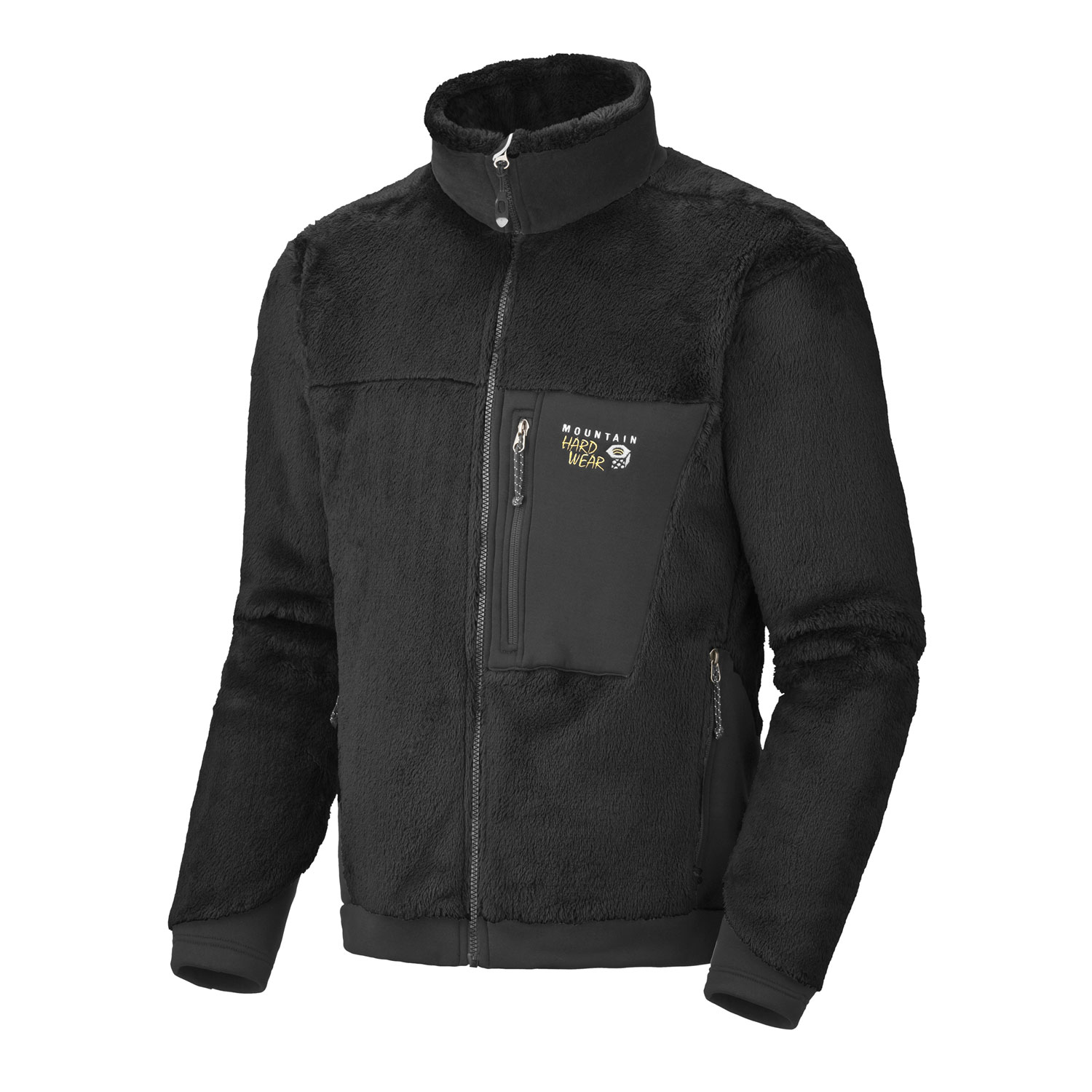 "Key Features of the Mountain Hardwear Monkey Man Fleece: Avg. weight: 1 lb 2 oz; 514g Center back length: 28"" Fabric: body: Polartec ThermalPro Monkey Phur (100% polyester) panel: Polartec Power Stretch (88% polyester, 12% Elastane) MicroClimate Zoning construction for built-in warmth, breathability and stretch Extremely soft, extremely warm Zip chest pocket to stash your stuff Zip handwarmer pockets - $119.95"