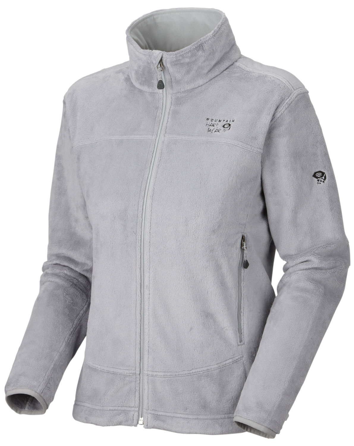 "Key Features of the Mountain Hardwear Pyxis Jacket: Soft, warm and luscious fleece Zip handwarmer pockets Dual hem drawcords for quick fit adjustments Fleece-lined chin guard prevents zipper chafe AVG. WEIGHT: 14 oz; 383 g CENTER BACK LENGTH: 25.5""; 65 cm FABRIC: body: Voluptuous Velboa (100% polyester) - $75.95"