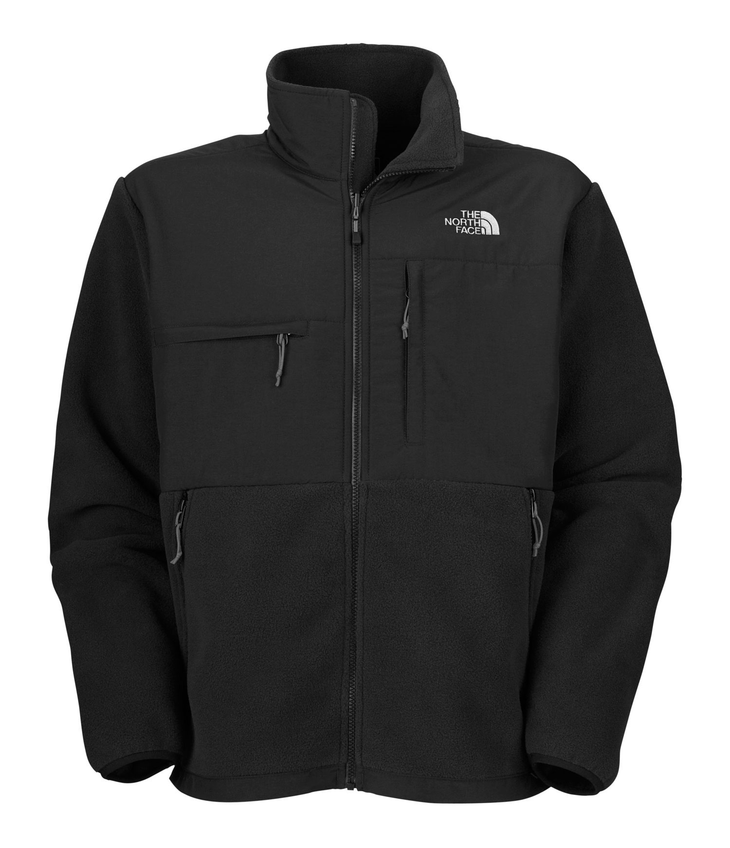 "A 100% windproof fleece gives this already comfortable and durable jacket ultimate protection from winter weather. * Avg Weight: 842 g (29.7 oz) * Center Back: 28"" * Fabric: body: recycled Polartec 300 Series fleece with DWR (bluesign approved fabric) * abrasion: laundered two-ply nylon (bluesign approved fabric) * Standard fit * Zip-in compatible * Abrasion-reinforced shoulders and elbows * Napoleon chest pocket * Horizontal chest pocket * Two hand pockets * Elastic- bound cuffs * Pit-zip vents * Hem cinch-cord * Fixed hood * 3XL TNF Black and R Charcoal Grey Heather only - $178.95"
