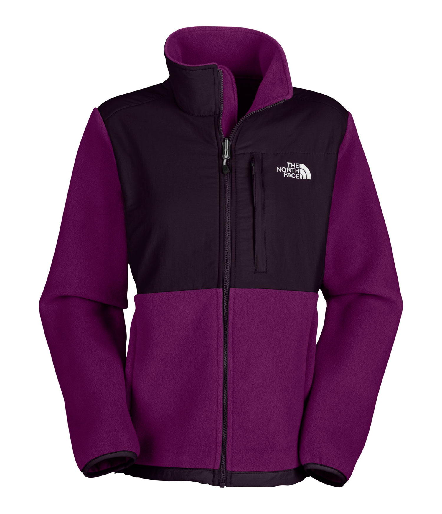 "Straightforward comfort and durability make this the ultimate all-around jacket for wintry cold. Key Features of The North Face Denali Jacket: Zip-in compatible integration with complementing garments from The North Face Abrasion-reinforced shoulders and chest Napoleon chest pocket Two secure-zip hand pockets Elastic-bound cuffs Avg weight: 551 g (19.4 oz) Center back: 26"" Fabric: body: Recycled Polartec 300 Series fleece with DWR abrasion: two-ply laundered nylon - $179.00"