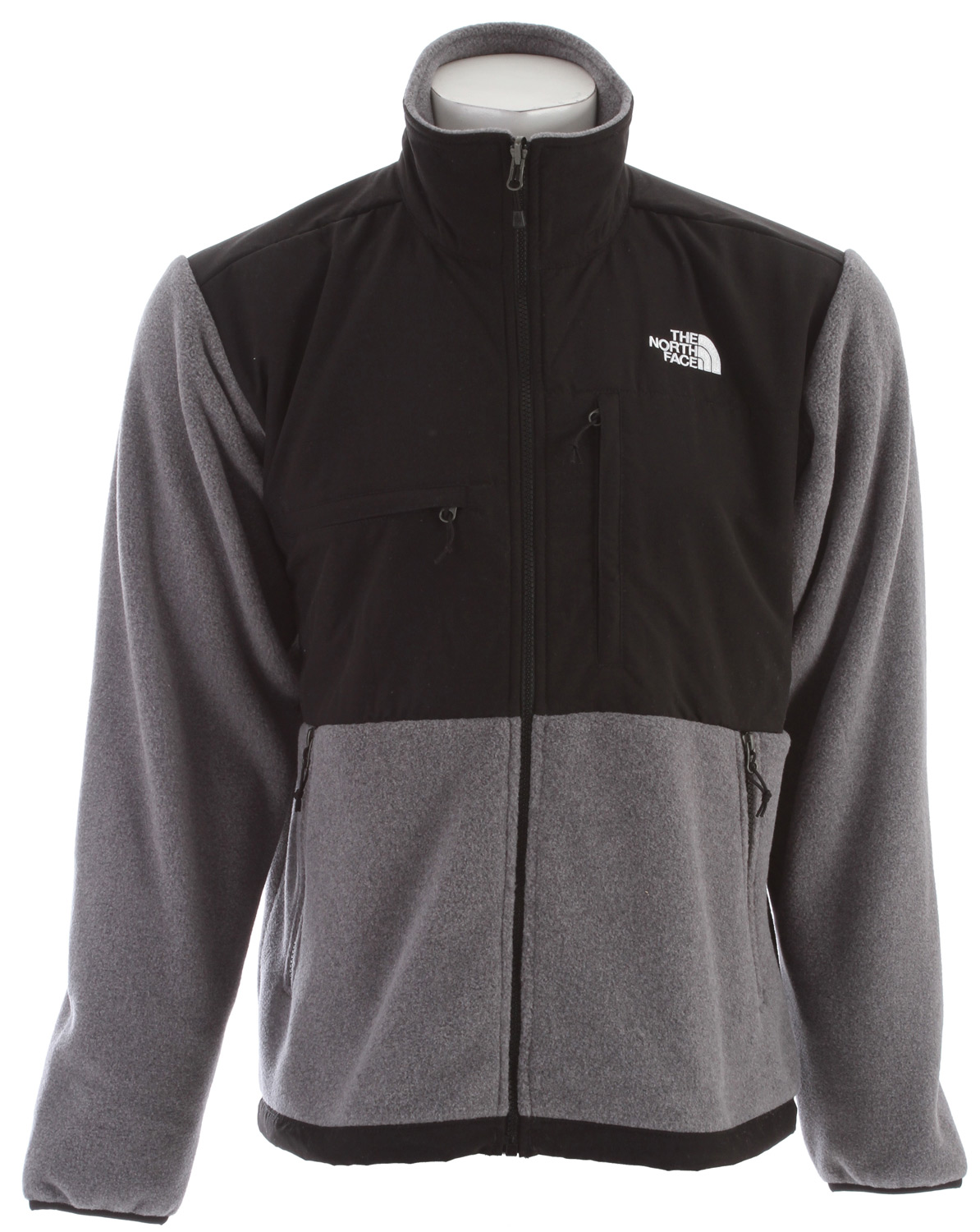 "A 100% windproof fleece gives this already comfortable and durable jacket ultimate protection from winter weather. Key Features of The North Face Denali Fleece: Avg Weight: 842 g (29.7 oz) Center Back: 28"" Fabric: body: recycled Polartec 300 Series fleece with DWR (bluesign approved fabric) abrasion: laundered two-ply nylon (bluesign approved fabric) Standard fit Zip-in compatible Abrasion-reinforced shoulders and elbows Napoleon chest pocket Horizontal chest pocket Two hand pockets Elastic- bound cuffs Pit-zip vents Hem cinch-cord Fixed hood *3XL TNF Black and R Charcoal Grey Heather only - $124.95"