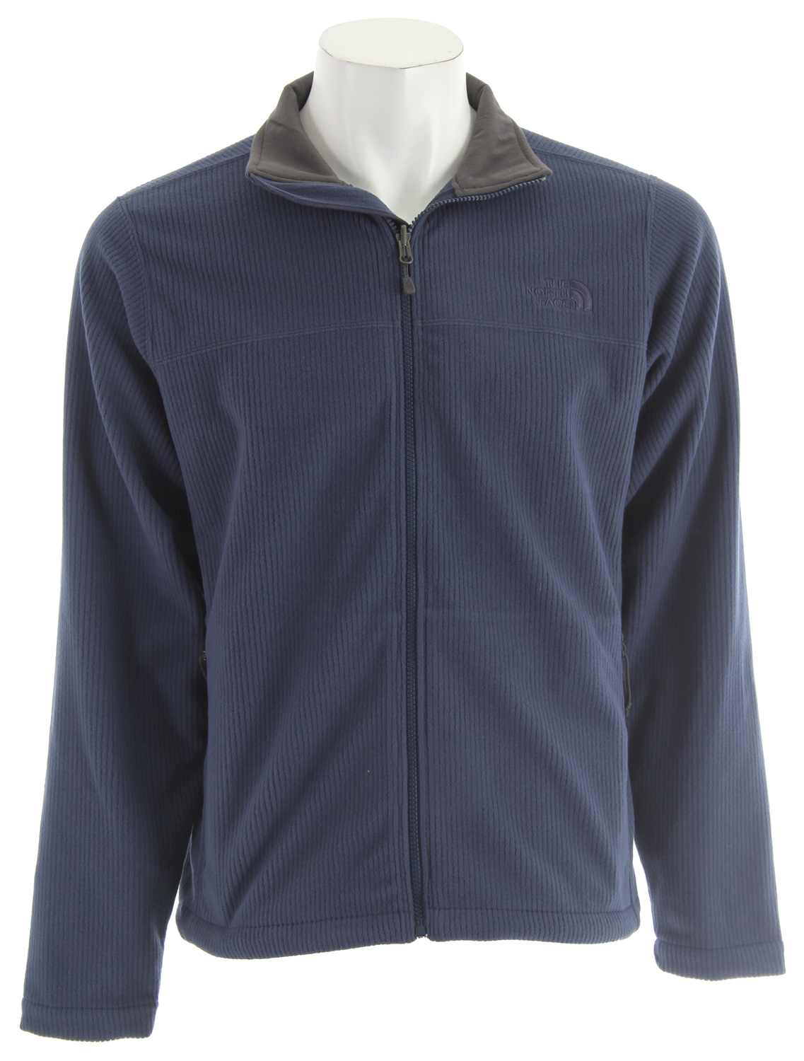Perfect for days with a chill in the air, this mid-to-lightweight streamlined cord-fleece jacket features a subtle pinstripe exterior for a business-only look. Cord-fleece is short for corduroy-fleece in case you were wondering.Key Features of The North Face Fly Fleece Jacket: Two hand pockets Hem cinch-cord Standard fit Zip-in compatible - $59.95