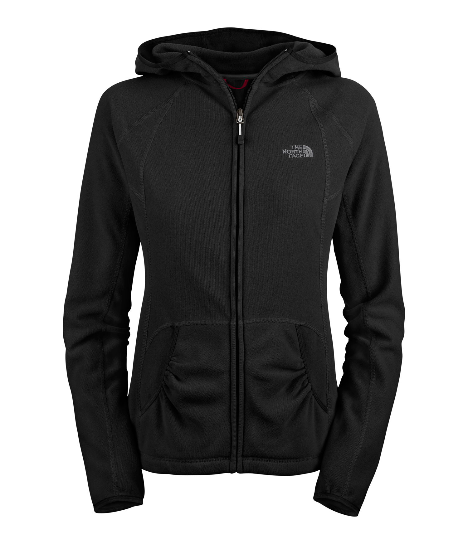 Camp and Hike Redesign of our top-selling TKA 100 fleece hoodie delivers sleeker, modernized lines with the same great fit; perfect for hiking, climbing or around town. Key Features of The North Face Tka 100 Texture Masonic Hoodie: Avg Weight: 250 g (8.8 oz) Fabric: 190 g/m2 Polartec® Classic 100 Micro—100% polyester (bluesign® approved fabric) Ultraviolet Protection Factor (UPF) Provides warmth without the weight and bulk of traditional insulating fabrics Highly breathable to provide comfort in all activities Dries quickly to minimize heat loss Pill-resistant face and back Zip-up hoodie with lower hand pockets Revised pocket shape and raglan lines Media-friendly pocket and loop - $70.00
