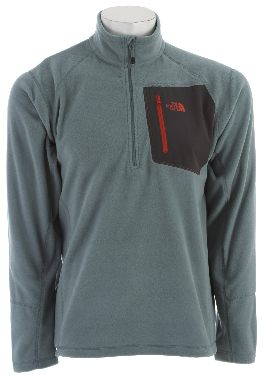 "A breathable, quick-drying midweight zip-neck constructed with Polartec fleece ideal for layering. Key Features of The North Face Tka 100 Trinity Alps 1/4 Zip Jacket: Fabric: 160 g/m (4.64 oz/yd ) 100% polyester Center Back: 27.5"" Midweight layering piece Ultraviolet Protection Factor (UPF) ??? Secure Napoleon zip pocket Flat-locked stitching for strength and reduced abrasion Reverse-coil zips for finished look - $45.95"