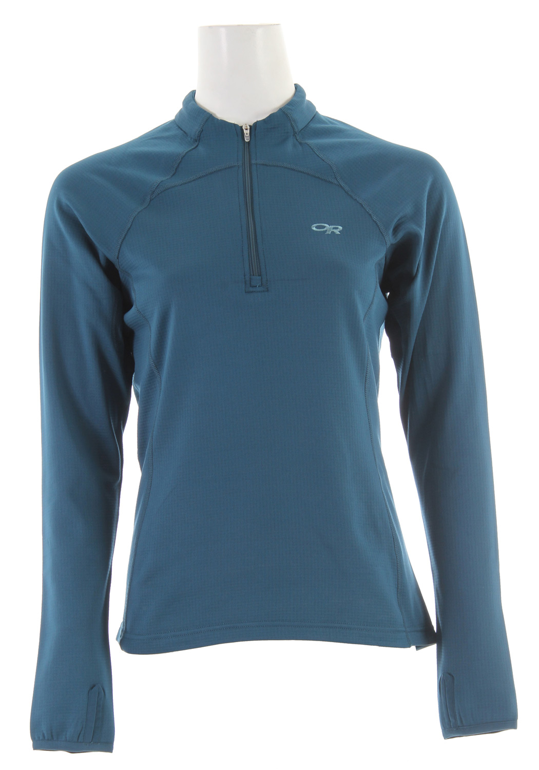 Designed with our new Radiant LT Fleece, this lightweight, wicking zip top is the ideal second layer or base layer. The highly breathable grid fleece pulls moisture from your skin when the ascent amps up the challenge. For greater ventilation, push up the arms and unzip the neck-to-chest zipper to be cooled by the breeze. On days when you need to keep the sun off without getting too hot, the Radiant LT Zip Tip offers light coverage as an outer layer. Key Features of the Outdoor Research Radiant LT Zip Top Fleece Jacket: Radiant LT Fleece u length front zipper Flatlock stitching and wrap-around side seams Thumb loops on cuffs Lycra binding on thumb loops and cuffs - $41.95