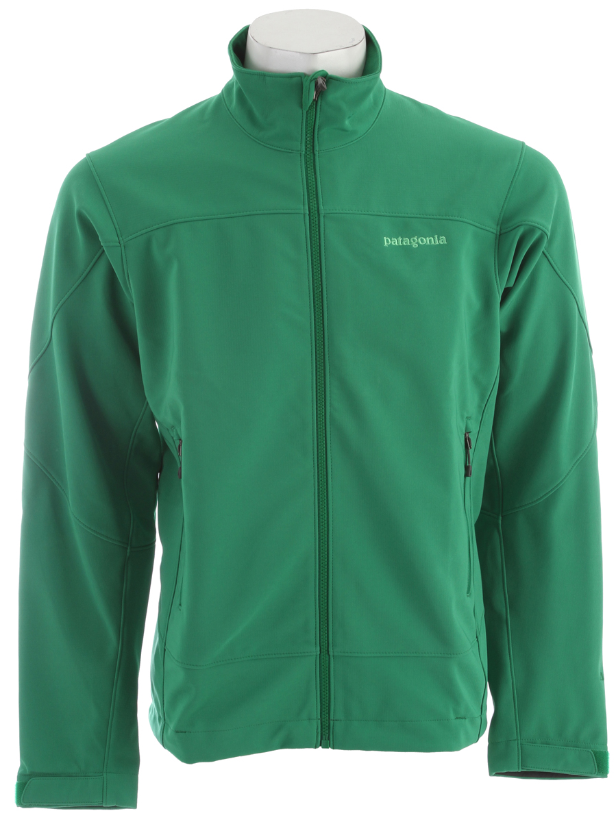 Total protection from even the worst wind, this durable jacket combines Polartec Windbloc stretch-woven fabric with a moisture-wicking fleece grid backer that keeps you warm and dry in cold conditions. FABRIC: 9-oz Polartec Windbloc 93% polyester/7% spandex, with a DWR (durable water repellent) finishKey Features of the Patagonia Adze Fleece: Regular fit Polartec Windbloc stretch-woven polyester soft-shell fabric stops wind, a DWR finish resists precip, and a fleece grid backer warms and wicks moisture Microfleece-lined neck and wind flap for next-to-skin comfort Pockets: two harness- and pack-compatible handwarmers, one internal chest pocket, all with reverse-coil zippers Low-profile hook-and-loop self-tab cuffs create a tight wrist seal Drawcord hem - $89.95