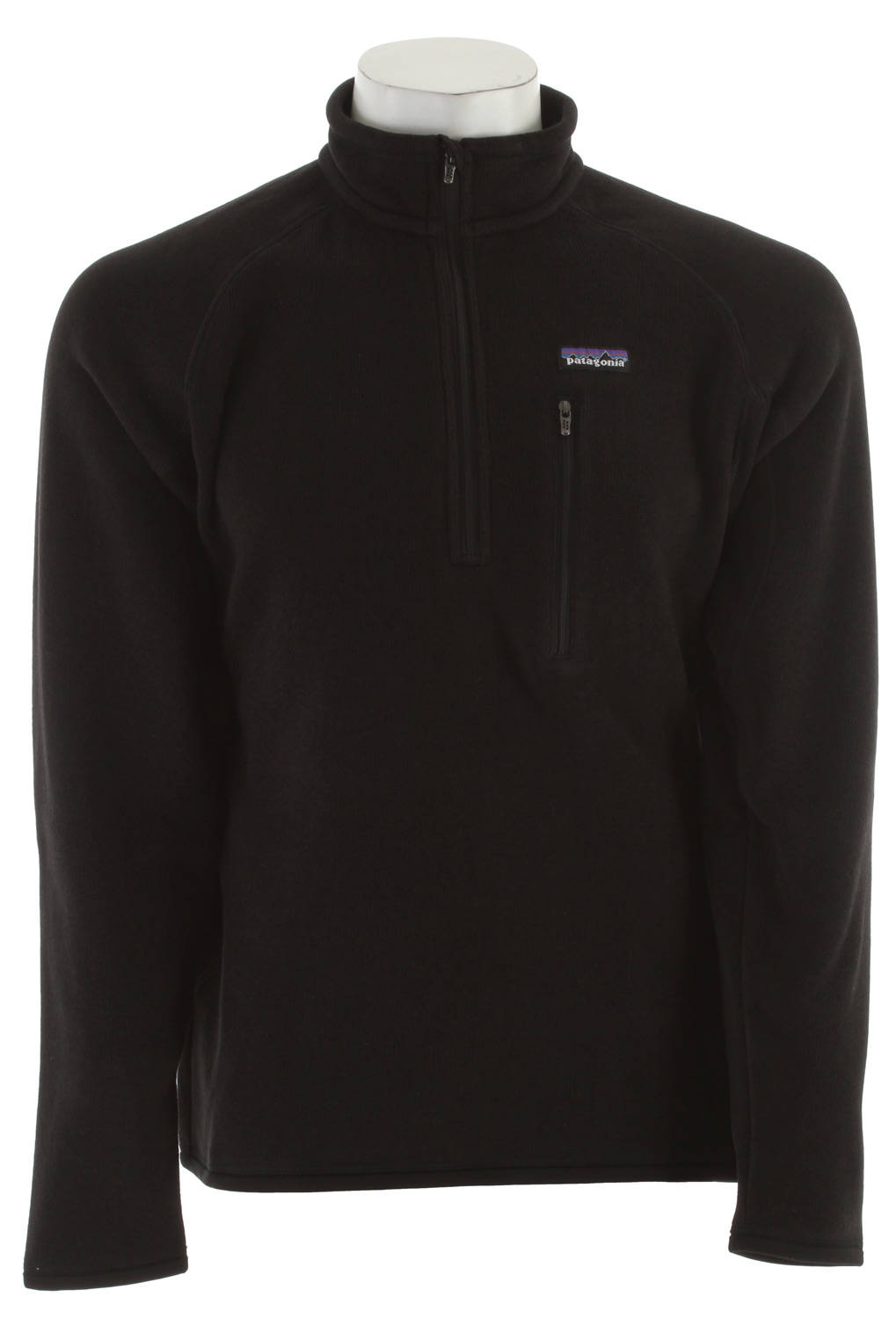 Wake A rugged, 1/4-zip fleece pullover that combines the aesthetic of wool with the easy care of polyester fleece. Wake up, check the buoys, slip on the Better Sweater 1/4-Zip and go. It's built of 9.5-oz polyester with a sweater-knit exterior and a fleece interior that creates an easy-wearing, moisture-wicking, bulk-free piece for handling the colder parts of the day. The stand-up collar has a zipper garage; raglan side and back seams make for a classic shape. Micro-polyester jersey trim at the collar, cuffs and hem wicks sweat, and a vertical zippered chest pocket secures keys and cash.Key Features of the Patagonia Better Sweater 1/4 Zip Fleece: Regular fit Fabric has a sweater-knit face, fleece interior and heathered yarns 1/4-zip pullover with stand-up collar and zipper garage Raglan sleeves for pack-wearing comfort Zippered chest pocket Micropolyester jersey trim on cuffs, hem and back of neck Can be worn with layers as outerwear in cold conditions, or as a midlayer under a shell jacket Hip length 9.5-oz 100% polyester with a sweater-knit exterior and a fleece interior 490 g (17.3 oz) Made in Thailand. - $66.95