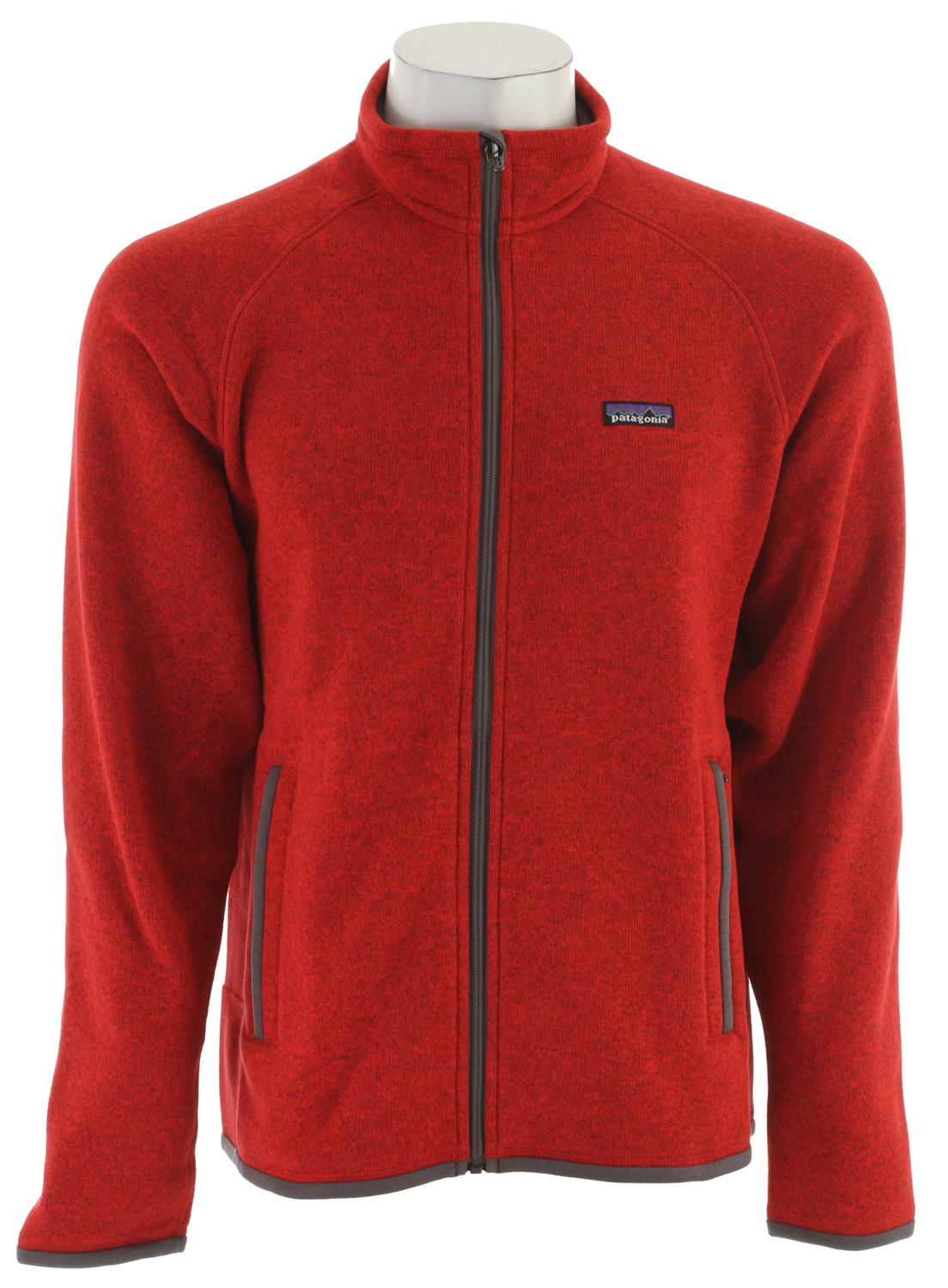 Fitness A soft, full-zip polyester fleece jacket that has a sweater-knit face and a warm fleece interior. fabric: 9.5-oz 100% polyester with a sweater-knit exterior and fleece interiorKey Features of the Patagonia Better Sweater Jacket Fleece: Fabric has a sweater-knit face, fleece interior and heathered yarns Full-zip jacket with zip-through, stand-up collar and zipper garage Raglan sleeves for pack-wearing comfort Two zippered handwarmer pockets Micropolyester jersey trim on cuffs, hem and back of neck Can be worn with layers as outerwear or as a midlayer under a shell Hip length - $129.95
