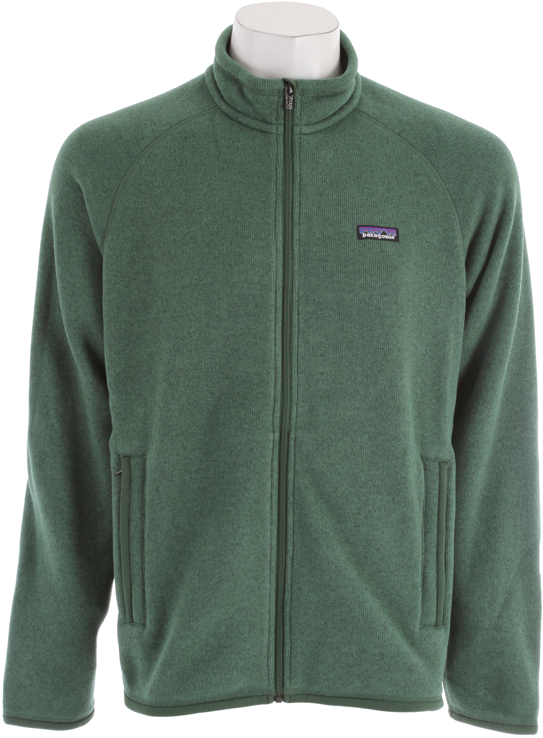 Surf A soft, full-zip polyester fleece jacket that has a sweater-knit face and a warm fleece interior. fabric: 9.5-oz 100% polyester with a sweater-knit exterior and fleece interiorKey Features of the Patagonia Better Sweater Jacket Fleece: Fabric has a sweater-knit face, fleece interior and heathered yarns Full-zip jacket with zip-through, stand-up collar and zipper garage Raglan sleeves for pack-wearing comfort Two zippered handwarmer pockets Micropolyester jersey trim on cuffs, hem and back of neck Can be worn with layers as outerwear or as a midlayer under a shell Hip length - $89.95