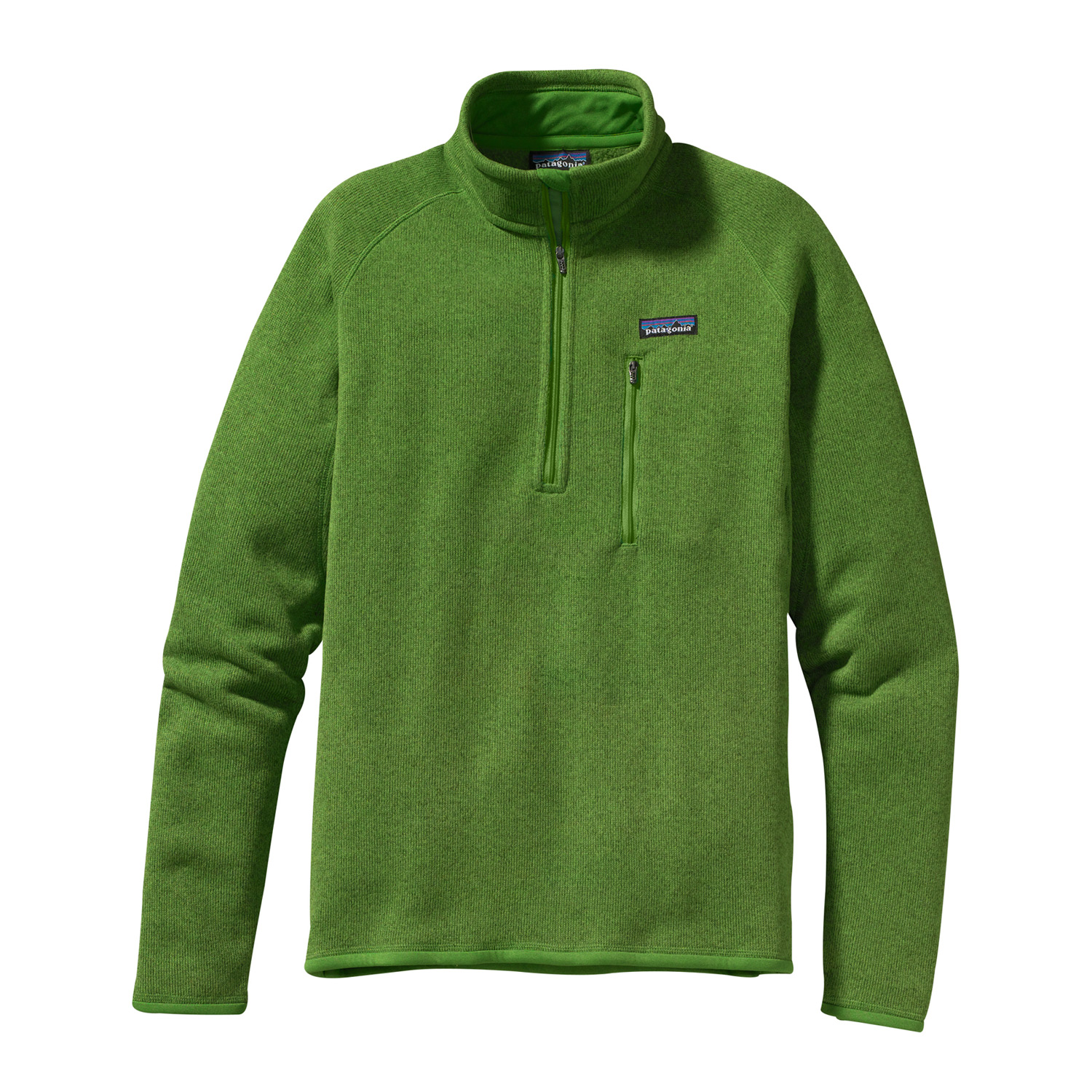 Wake A rugged, 1/4-zip fleece pullover that combines the aesthetic of wool with the easy care of polyester fleece. Wake up, check the buoys, slip on the Better Sweater 1/4-Zip and go. It's built of 9.5-oz polyester with a sweater-knit exterior and a fleece interior that creates an easy-wearing, moisture-wicking, bulk-free piece for handling the colder parts of the day. The stand-up collar has a zipper garage; raglan side and back seams make for a classic shape. Micro-polyester jersey trim at the collar, cuffs and hem wicks sweat, and a vertical zippered chest pocket secures keys and cash.Key Features of the Patagonia Better Sweater 1/4 Zip Fleece: Regular fit Fabric has a sweater-knit face, fleece interior and heathered yarns 1/4-zip pullover with stand-up collar and zipper garage Raglan sleeves for pack-wearing comfort Zippered chest pocket Micropolyester jersey trim on cuffs, hem and back of neck Can be worn with layers as outerwear in cold conditions, or as a midlayer under a shell jacket Hip length 9.5-oz 100% polyester with a sweater-knit exterior and a fleece interior 490 g (17.3 oz) Made in Thailand. - $79.95