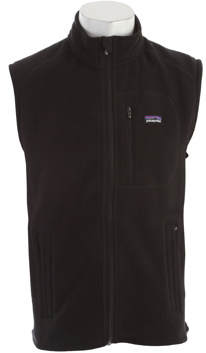 Warmth without bulk, our Better Sweater Vest has a wool-like knit face, luxurious fleece interior and the rugged durability of polyester fleece FABRIC: 9.5-oz 100% polyester with sweater-knit exterior and fleece interiorKey Features of the Patagonia Better Sweater Vest: Regular fit Fabric has a sweater-knit face, fleece interior and heathered yarns Full-zip vest with zip-through stand-up collar and zipper garage Offset shoulder seams for pack-wearing comfort Zippered pockets: vertical chest and two handwarmers Micropolyester jersey fabric trims the armholes, hem and back of neck Can be worn with layers as outerwear or as a midlayer under a shell Hip length - $75.95