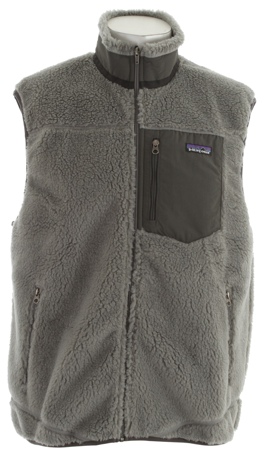 "Whether on its own or under a shell jacket, this windproof, recycled polyester Synchilla fleece vest keeps your core warm. This garment has a Regular Fit With three miles of fence line to mend in a southern Idaho draft, you'd best call a friend who owes you one - then grab the Retro-X. It has a windproof barrier sandwiched between a thick 100% polyester pile (86% recycled) on the outside and a moisture-wicking, brushed-mesh lining that keeps warmth in and winter out. The chest pocket, collar and wind flap are Supplex nylon, and the side pockets are lined with brushed-polyester mesh for comfort.Key Features of the Patagonia Classic Retro X Vest: Windproof membrane bonded between a recycled-polyester fleece exterior and moisture-wicking, brushed polyester-mesh interior Full-zip vest with internal wind flap Zippered pockets: Vertical chest pocket made of Supplex nylon; two handwarmers lined with brushed polyester mesh Hip length 7.5-oz Synchilla 100% polyester (86% recycled) 1/4""-pile. Lining: 100% polyester brushed mesh with a windproof barrier. Trim: 100% Supplex nylon 419 g (14.8 oz) Made in Costa Rica. Recycled Polyester: We recycle used soda bottles, unusable second quality fabrics and worn out garments into polyester fibers to produce many of our clothes. At Patagonia we seek to build the best product and cause no unnecessary harm. That's our mission statement, and it takes many forms. As it applies to making products, we work hard to source materials and use processes that are less harmful to the Earth without compromising quality. Because to us, quality is not only how well a product performs and holds up, but also how it's made. - $139.95"