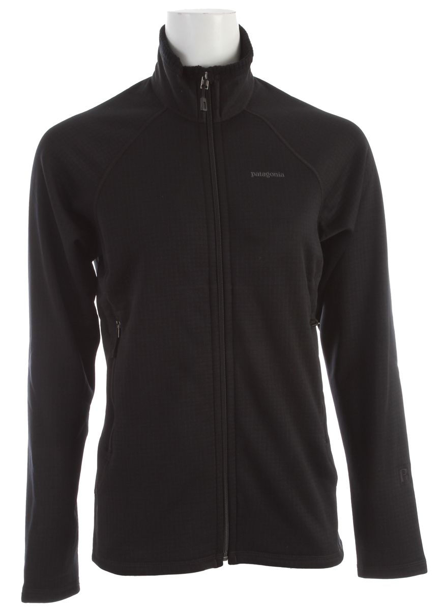The optimal full-zip midlayer or baselayer for alpine endeavors in demanding conditions, the R1 Jacket is made with Regulator grid fleece for outstanding stretch, breathability, compressibility and durability. Fabric: 6.8oz Polartec Power Dry 93% Polyester (41% recycled)/ 7% spandex.Key Features of the Patagonia R1 Full Zip Jacket: Slim fit Versatile R1 fleece provides excellent stretch, warmth, wicks moisture and breathes in a variety of temperatures Interior high/ low grid fleece enhances compressibility, airflow and dry time Microfiber face speeds dry time and allows for easy layering Two zippered handwarmer pockets Raglan sleeve construction reduces bulk under a pack - $149.00