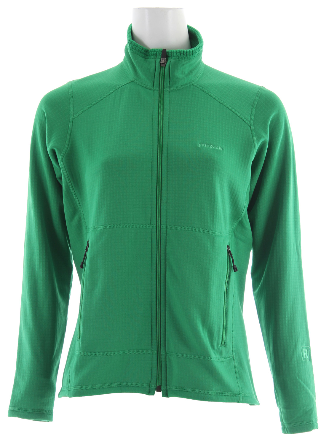 It stretches, breathes, wicks and warms - no wonder so many serious trail and mountain athletes use and abuse our R1 styles. And the full-zip front makes it even more versatile, from a midlayer in winter to a lightweight jacket on early fall mornings and alpine summer evenings. Plus, the fabric has never been better: We worked with Polartec to fine-tune the high/low interior grid polyester (Polartec Power Dry  into an exclusive that's more breathable and compressible and has an improved feel and durability, while still maintaining its warmth. Two zippered handwarmer pockets sit above the harness line, and offset shoulder seams steer clear of pack straps.Key Features of the Patagonia R1 Full Zip Jacket:  Versatile R1 fleece provides excellent stretch, warmth, wicking and breathability in a variety of temperatures  Fleece has high/low grid on inside for enhanced compressibility, airflow and decreased dry time  Microfiber face speeds moisture wicking and allows for easy layering  Off-the-shoulder seam construction reduces bulk while wearing a backpack  Pockets: Two zippered handwarmers  6.8-oz Polartec Power Dry 93% polyester (41% recycled /7% spandex  357 g (12.6 oz   Recycled Polyester: We recycle used soda bottles, unusable second quality fabrics and worn out garments into polyester fibers to produce many of our clothes.  Regulator Insulation: Provides phenomenal compressibility, light weight warmth and moisture transport, whether used alone or as part of a layering system. - $81.95
