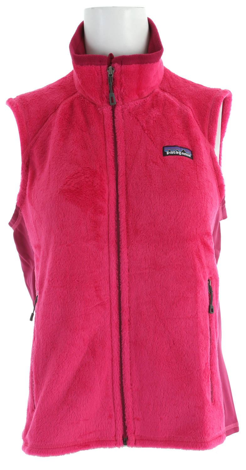 The R2 Vest provides superior midweight warmth and insulation under a shell. It's made of a breathable, high-loft fleece that's lightweight, stretchy and compressible. As every mountain minimalist knows, little can match the weight-to-redemption value of high-loft core warmth. Our dialed and refined R2 fabric (Polartec Thermal Pro) is supremely warm, with great stretch and a soft hand, while being incredibly compressible, breathable and light. The short-sheared but high-loft polyester face has a smooth appearance and insulates especially well underneath a shell; its directional knit wicks superbly, speeding dry times. Breathable, warm stretch panels (Polartec Power Stretch) along the sides allow for a close, mobile fit. With a softly lined inner collar and chin flap for skin comfort, offset shoulder seams to stay clear of pack straps and zippered handwarmer pockets.Key Features of the Patagonia R2 Fleece Vest: Exceptional warmth-to-weight ratio, stretchy, compressible and breathable Directional knit wicks moisture and speeds dry time Collar and chin flap lined with Polartec Power Stretch fabric (made with recycled polyester) for next-to-skin comfort Shoulder yoke offset for comfort with pack straps Polartec Power Stretch fabric panels under the arms allow for a close fit, improved motion and increased durability in high-wear areas Pockets: Two zippered handwarmers Body: 6.1-oz Polartec Thermal Pro 97% polyester (64% recycled)/3% spandex. Side panels: 6.6-oz Polartec Power Stretch 88% polyester (60% recycled)/12% spandex 232 g (8.2 oz) Made in Colombia. We recycle used soda bottles, unusable second quality fabrics and worn out garments into polyester fibers to produce many of our clothes. - $89.95