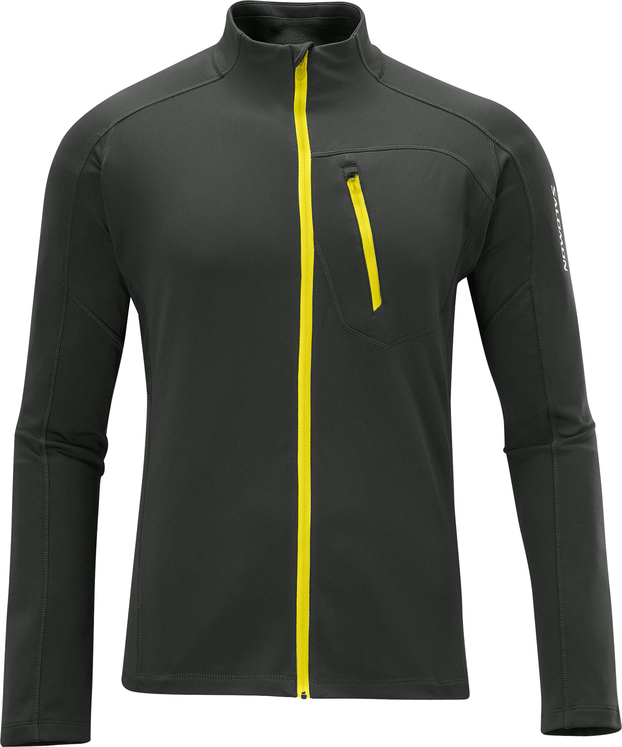 Camp and Hike Soft, breathable, fitted full zip midlayer ideal for aerobic sports. A best sellerKey Features of the Salomon Xa Midlayer Fleece: Smart skin Actitherm Actilite 1 Chest pocket Reflective branding Active fit - $67.95