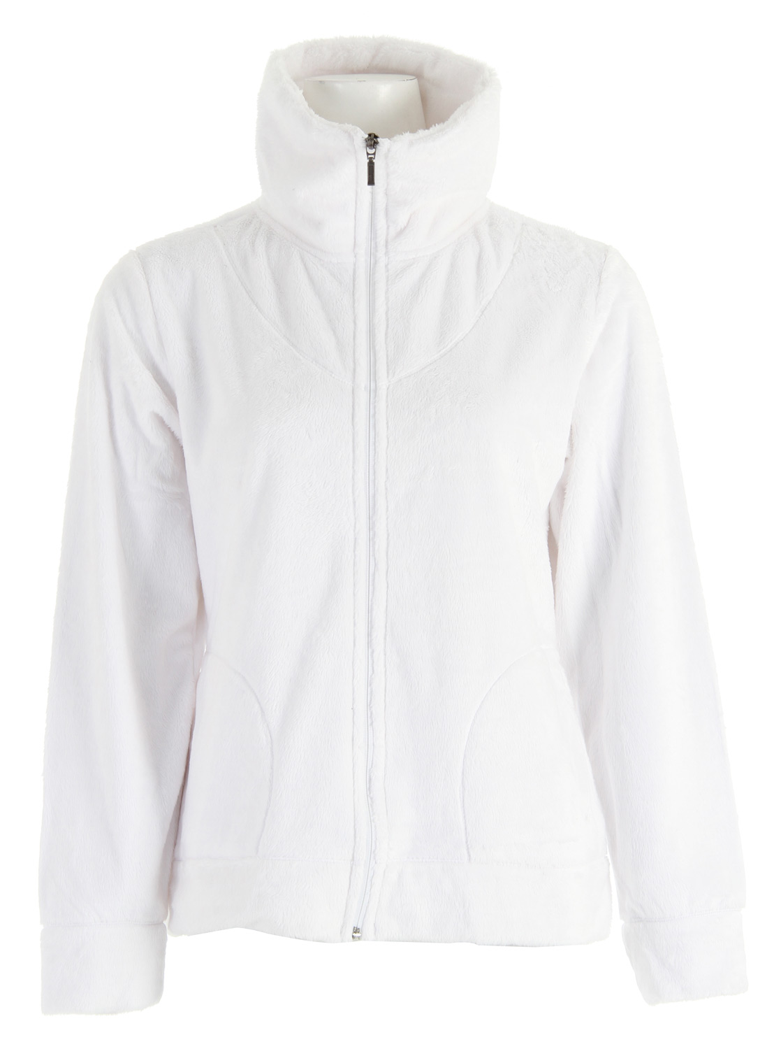 "Key Features of the White Sierra Susan Jacket: 100% polyester velvet fur fleece knit 200 weight Side seam pockets Center back length: 25"" - $34.95"
