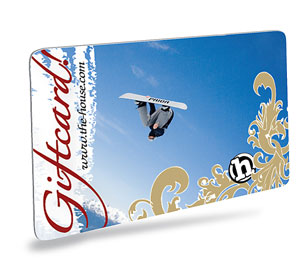 Snowboard The House Gift Certificate lets you take advantage of the best buy and surest bet in gift giving. How can you go wrong? It's always exactly what they wanted; the right color, the perfect fit not to mention exactly what is in style. You'll be the hero with the birthday boy or girl, at that company party (puckering up to the boss) or with your special someone. CUSTOMIZED GIFT MESSAGE: Please take the time to include a personalized message to the recipient of your Gift Card in the Gift Message field located on the second page of the checkout process. If you have any questions, just pick up the phone and call us toll free at 1-800-992-7245. - $15.00