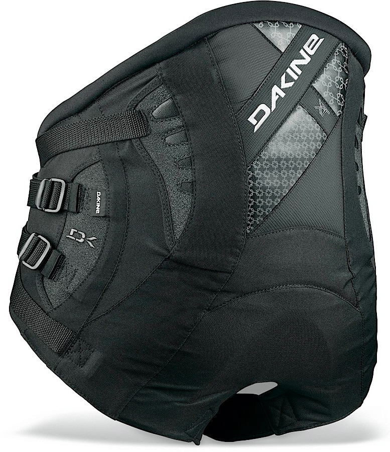 Fitness The ultimate in lower back support, without sacrificing the comfort. The go to seat harness for racing or just cruising.Key Features of the Dakine XT Seat Harness: Featherweight ES foam molded lumbar pad Independent primary and secondary Power Belt Adjustable spreader bar height 8-Point load dispersion system Ultra comfortable, self-tensioning neoprene leg cinch straps Internal batten support Load equalizer patches Sliding Bar Kit compatible - $140.00