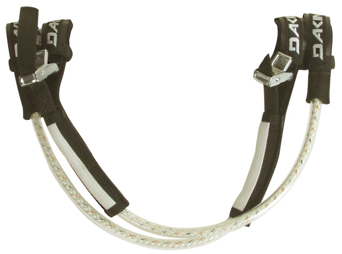 "Wake Dakine harness lines have been proven time after time in the most punishing conditions, to be the strongest and most reliable harness lines in the world.Key Features of the Dakine Classic Reactive Lines: 8 Plait Pre-Stretched Marlow Rope High Density Polyurethane Tubing Corrosion Resistant, All Metal Buckle Non-Slip Pads 6"" (15cm) adjustment range - $43.95"