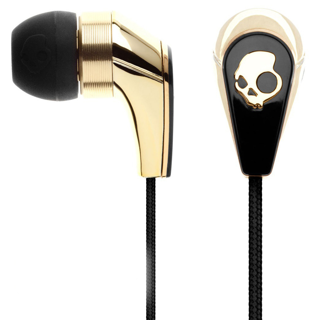 Entertainment Key Features of the Skullcandy 50/50 w/ Mic 3 Earbuds: In-Line Mic3 11mm Power Drivers Nylon Mesh Carry Case 3 Silicone Gel Sizes Mic3+Control switch+Volume control Play/Pause/Track control Speaker Diameter: 11mm Magnet Type: NdFeB Frequency Response: 20-20k Hz Impedance: 16 ohms Max Input Power: 100mW Cable Type: TPE Cable Length: 1.3M Plug Type: 3.5mm Gold Plated Volume function compatible with: iPhone 4, iPhone 3GS, iPad (1st and 2nd Generation), iPod Touch (2nd, 3rd, and 4th Generation), iPod Classic (2009), iPod Nano (4th, 5th, and 6th Generation), iPod Shuffle (3rd and 4th Generation), and MacBook Pro - $29.95