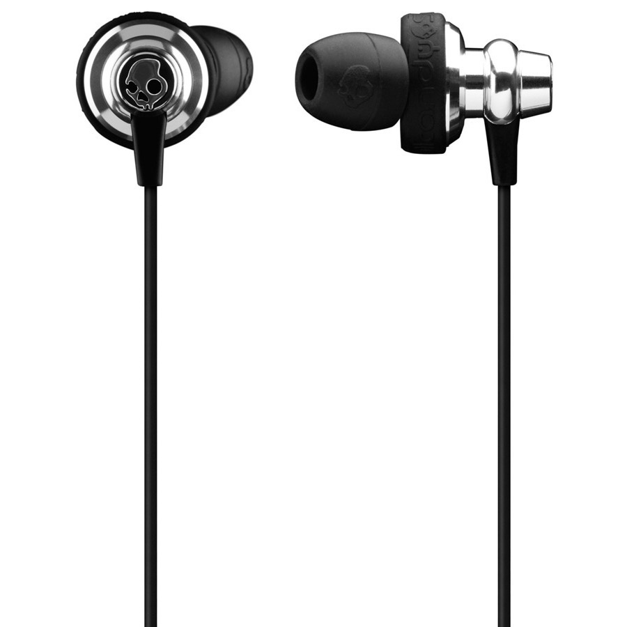 Entertainment The Skullcandy Heavy Metal In Ear with Mic 3 Ear Buds - Discontinued Model has an excellent ported housing for powerful and aggressive bass, and smooth acoustic sounds. The TPC cable with Mic 3 gives you total control over the volume as well as change tracks or play and pause. Two extra silicone gel sizes are included for adjustment. The comply foam tips fit securely in your ears, cancelling out unwanted sounds. The Heavy Metal In Ear with Mic 3 Ear Buds are designed for extreme stability and comfort.Key Features of the Skullcandy Heavy Medal with Mic 3 Earbuds:  Speaker Diameter: 13.5mm   TPE Cable with Mic3  Anodized Medal Housing  Ported Housing for Aggressive Bass  2 Silicone Gel Sizes  Comply Foam Tips  Medal Carrying Case  Magnet Type: Neodymium  Frequency Response: 5-22K Hz  Impedance: 15 ohms  Cable Length: 1.2m  Plug Type: 3.5mm Gold Plated - $47.95