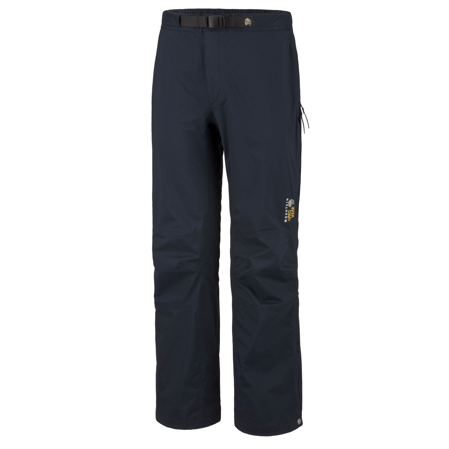 "Camp and Hike Key Features of the Mountain Hardwear Stretch Cohesion Hiking Pants: Avg weight: 9 oz; 257g Inseam: 32"" Fabric: Ark Stretch 30D 2,5 Layer (100% nylon) All over stretch for comfort and freedom of movement Adjustable waist with integrated belt for a custom fit 3/4 side leg zips for ventilation and easy on/off Reinforced edge guards protect pant legs - $103.95"
