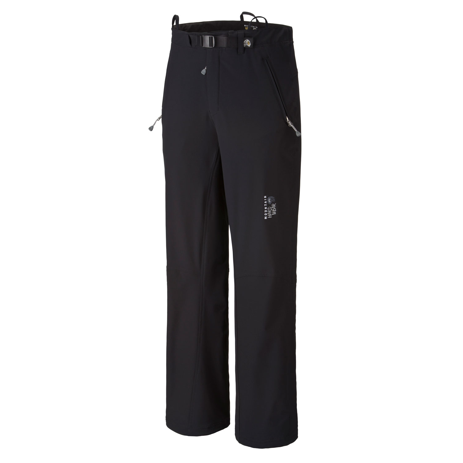 "Camp and Hike Be ready for anything the weather throws at you with these Mountain Hardwear Tanglewood Hiking Pants. Designed to keep you warm and dry when the snow falls on the slopes, trails, or anywhere else you go, these lightweight outer shell pants are made from a durable and water-resistant material known as Thornguard, and offer excellent rip resistance, as well. For further durability, the articulated knees also protect from damage, allowing the Tanglewood pants to be a long lasting investment well worth the money.  Avg weight: 16 oz; 445g    Inseam: 32""    Fabric: Thornguard (91% nylon, 9% Elastane     Suspender loops at waist    Zippered hand pockets    Ankle zips with snap for fit adjustments    Articulated knees    Micro-Chamois lined waist with an adjustable webbing belt for a comfortable chafe-free fit - $90.95"