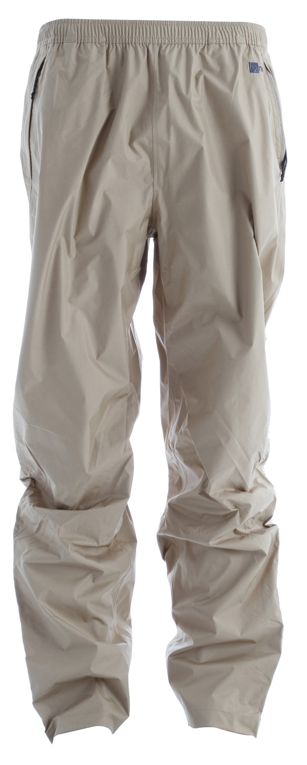 Camp and Hike They're lightweight, waterproof and breathable: Torrentshells keep you singing in the rain when thunderstorms boom. The 2.5-layer nylon pants with a Deluge DWR (durable water repellent) finish feature a simple pull-on style with an elastic drawcord waistband, articulated knees and three zippered pockets (two handwarmers, one back hip). The zippered lower legs have adjustable hook-and-loop cuffs, and the pants stuff into the left handwarmer pocket (with carabiner clip-in loop).Key Features of the Patagonia Torrentshell Pants: 2.5-layer 100% nylon ripstop shell with a waterproof/breathable H2No barrier and Deluge DWR finish Pull-on, elasticized self-fabric waistband with internal drawcord Pockets: Two zippered handwarmers, zippered back; all have Deluge DWR-treated zippers and storm flaps Articulated knees Adjustable, self-fabric hook-and-loop closure at ankle with Deluge DWR-treated zipper and storm flap Pants stow in left handwarmer pocket 2.5-layer, 2.6-oz 50-denier 100% nylon ripstop with a waterproof/breathable H2No barrier and a Deluge DWR (durable water repellent) finish 272 g (9.6 oz) Made in China. - $54.95