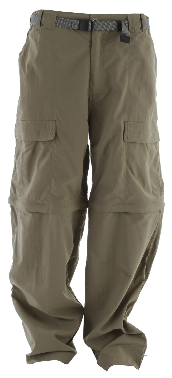 "Camp and Hike Zip-off pant legs make for an easy change from pants to shorts or vice-versa. Velcro adjustable leg openings with gusset allow the leg sections to slip off easily over footwear. UPF 30 sun protection.Key Features of the White Sierra Teton Trail Convertible 32"" Pants: 100% nylon Sierra Cloth woven UPF 30 Convertible pant Comfort fit side elastic Front cargo pockets Back cell phone pocket Gusseted crotch Attached jacquard belt Velcro tab adjustable leg opening with gusset - $45.95"