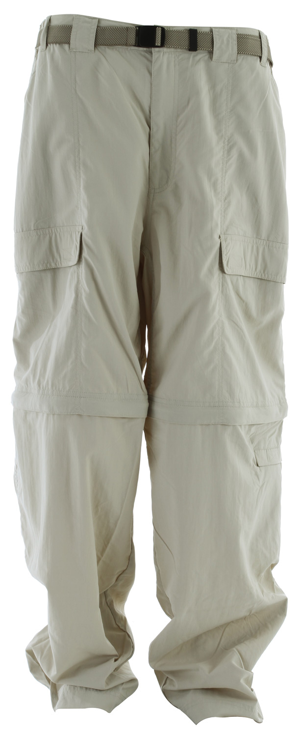 "Camp and Hike Zip-off pant legs make for an easy change from pants to shorts or vice-versa. Velcro adjustable leg openings with gusset allow the leg sections to slip off easily over footwear. UPF 30 sun protection.Key Features of the White Sierra Teton Trail Convertible 32"" Pants: 100% nylon Sierra Cloth woven UPF 30 Convertible pant Comfort fit side elastic Front cargo pockets Back cell phone pocket Gusseted crotch Attached jacquard belt Velcro tab adjustable leg opening with gusset - $32.95"