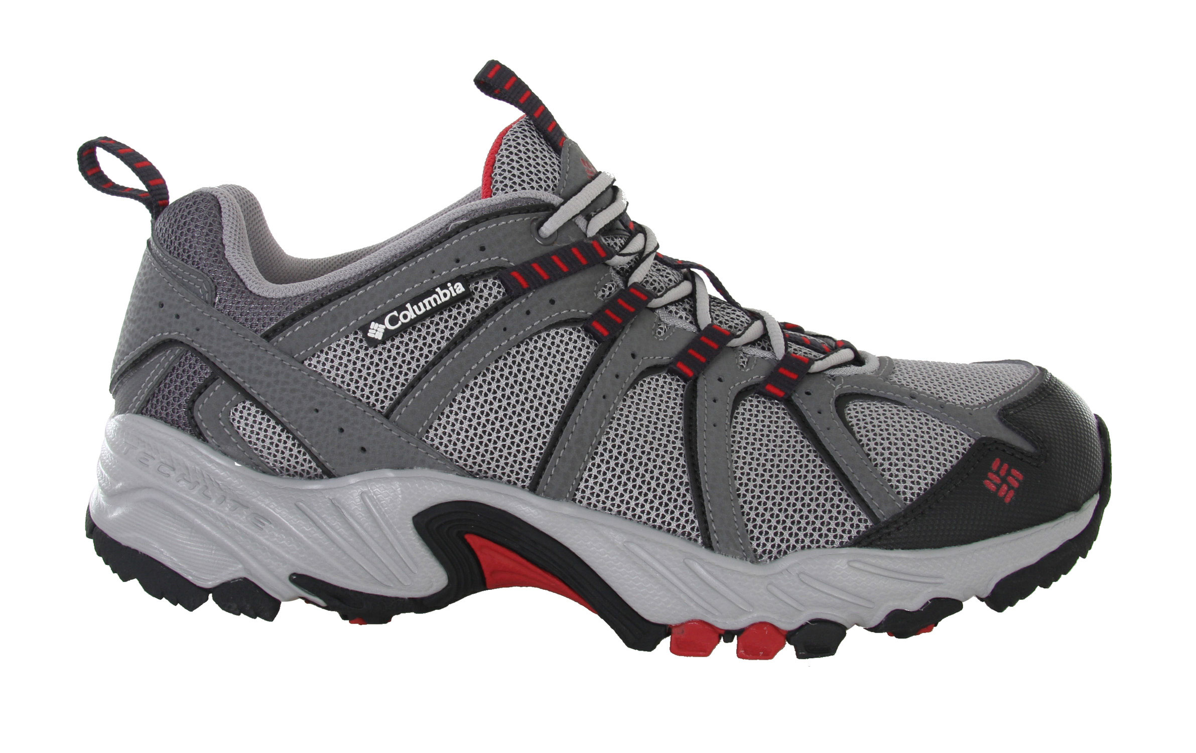 Camp and Hike A fantastic value, the Kaibab is the go-anywhere, do-anything answer to your everyday adventure footwear needs. This shoe is flexible, light and well-supported - perfect for trail running and hiking but low-profile enough for general everyday use. The breathable mesh upper helps you stay cool when you're on the move and a gusseted tongue keeps out unwanted debris. Ample padding protects and cushions your feet while a rugged non-marking outsole with a trail-specific design provides stability as you move over uneven surfaces. Key Features of the Columbia Kaibab Hiking Shoes: Breathable mesh upper supported by light and flexible overlays. Gusseted tongue to keep out unwanted debris Molded rubberized EVA with nylex top cover Compression molded EVA Nylon shank Non-marking Omni-Grip rubber compound with a rugged trail design Weight: Size 9, 1/2 pair = 12.6 oz/360g - $38.95