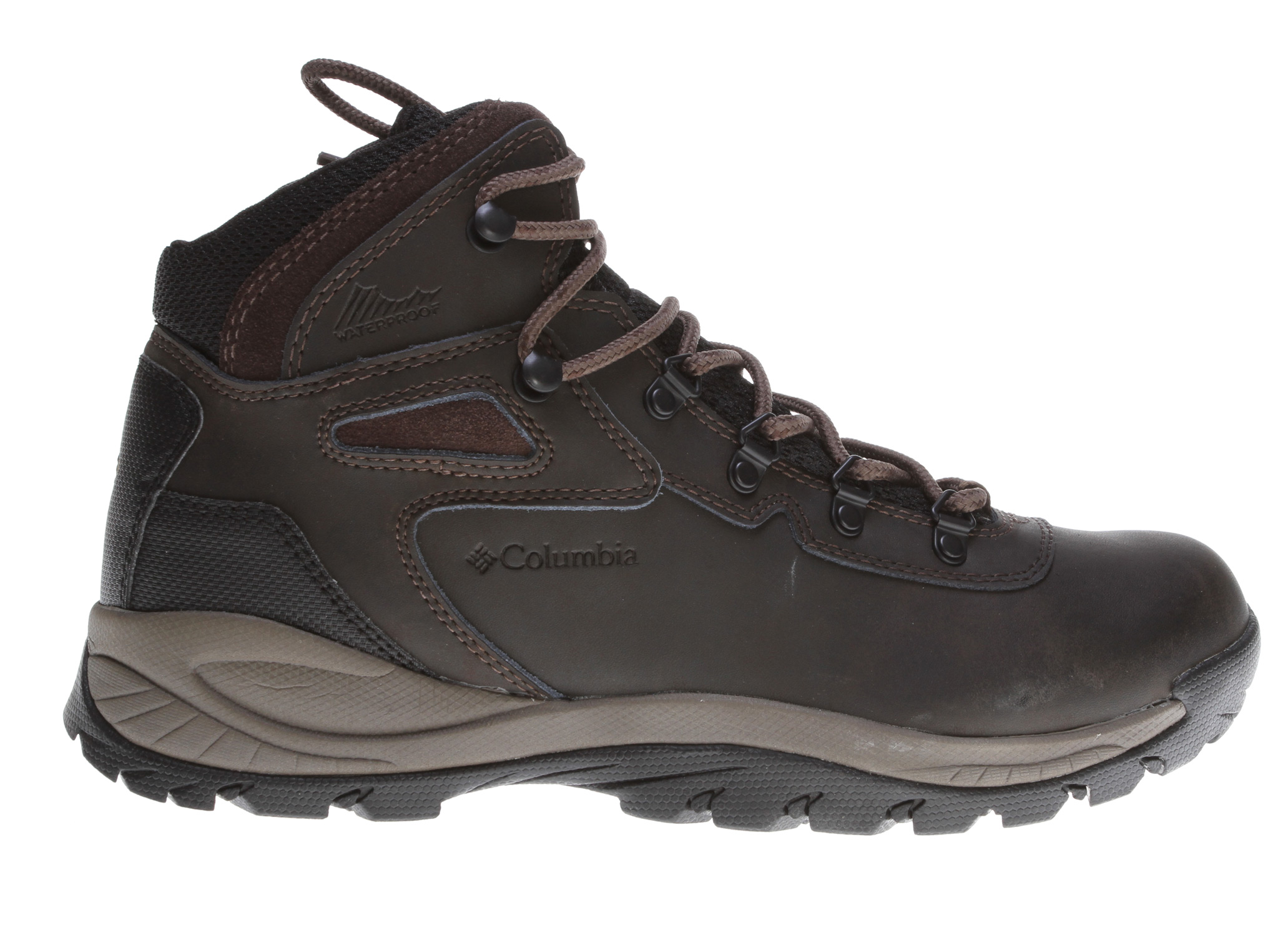 Camp and Hike Key Features of the Columbia Newton Ridge Plus Mid Shoes: MIDSOLE: EVA Molded EVA OUTSOLE: Rubber, Non-marking UPPER: Leather Waterproof STYLE: Ankle High Waterproof - $71.91