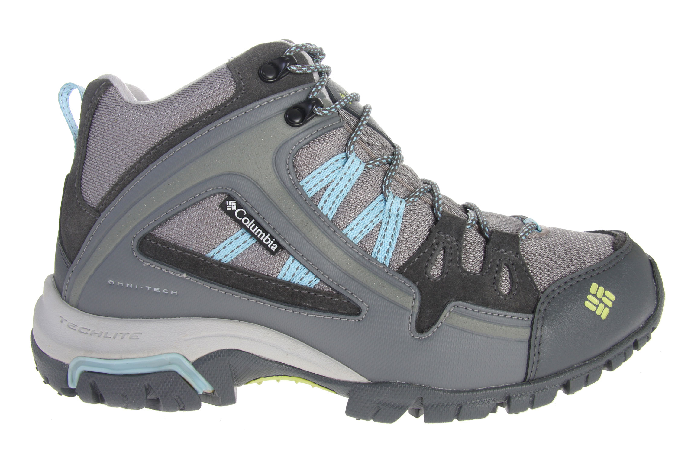 Camp and Hike Combining the essential stability of a mid-cut boot with the lightweight performance of trail shoe, the multi-purpose Shastalavista Mid is built to take you hiking, mountain biking, scrambling, and trail running in all-weather comfort. Designed for outdoor multi-functionality, it features a cool, mid-cut Omni-Tech waterproof-breathable mesh upper with leather overlays to keep feet protected from the elements and ankles supported on the trail. Reinforced rubber toe and heel protection enhances durability on rocky terrain, while the soft mesh collar prevents heel chafe. Inside the shoe, a removable Contour Comfort 1D footbed pulls moisture away from skin to while delivering lightweight cushioning and support. Compression-molded Techlite midsole maximizes comfort and minimizes weight, while a Omni-Grip rubber outsole with Kinetic Response provides independent suspension when the going gets rough. Key Features of the Columbia Shastalavista Omni Mid Hiking Shoes: Omni-Tech waterproof-breathable mesh upper with Nubuck leather and PU-coated overlays Durable mesh collar Removable Contour Comfort 1D footbed with wicking treatment Injection-molded tuned TPU shank Compression-molded Techlite for lightweight cushioning and comfort Non-marking Omni-Grip rubber compound outsole with Kinetic Response Weight: Size 7, 1/2 pair=14.5oz/411g - $89.95