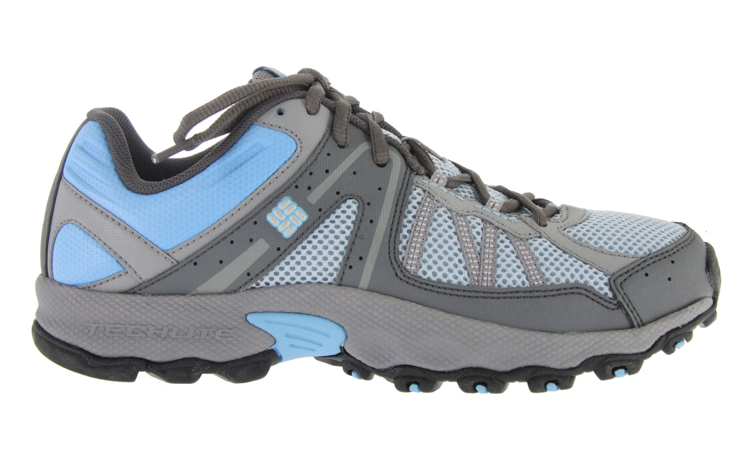 Camp and Hike Slip into the Switchback Low Hiking Shoe for low-profile support that looks as good on the street as it does on the single-track. Columbia's revolutionary new Techlite heel moves dense stabilizing elements to the outside (putting softer material directly against your foot) to provide a cushioned and conforming fit to alleviate pain and irritation where trail runners told us they felt it most. Omni-Grip traction on the rubber sole grips rocks, dirt, mud and just about anything else you encounter on off-road adventures. Breathable mesh and a soft material in the flex zones mean superior comfort with great agility and ease of movement. The gusseted tongue keeps out rocks, sticks, and dirt while light, sinewy overlays offer additional protection without adding unnecessary bulk. Key Features of the Columbia Switchback Low Hiking Shoes: Open breathable mesh tongue and vamp Gusseted tongue to keep out unwanted debris Light and sinewy synthetic overlays for support and protection Contour Comfort 1D footbed with AgION anti-odor treatment Removable contoured, single-density EVA footbed, which provides cushioning, comfort and support Low profile Techlite midsole for nimble, flexible feel in a lightweight package Non-marking Omni-Grip rubber compound with a rugged trail design - $48.95