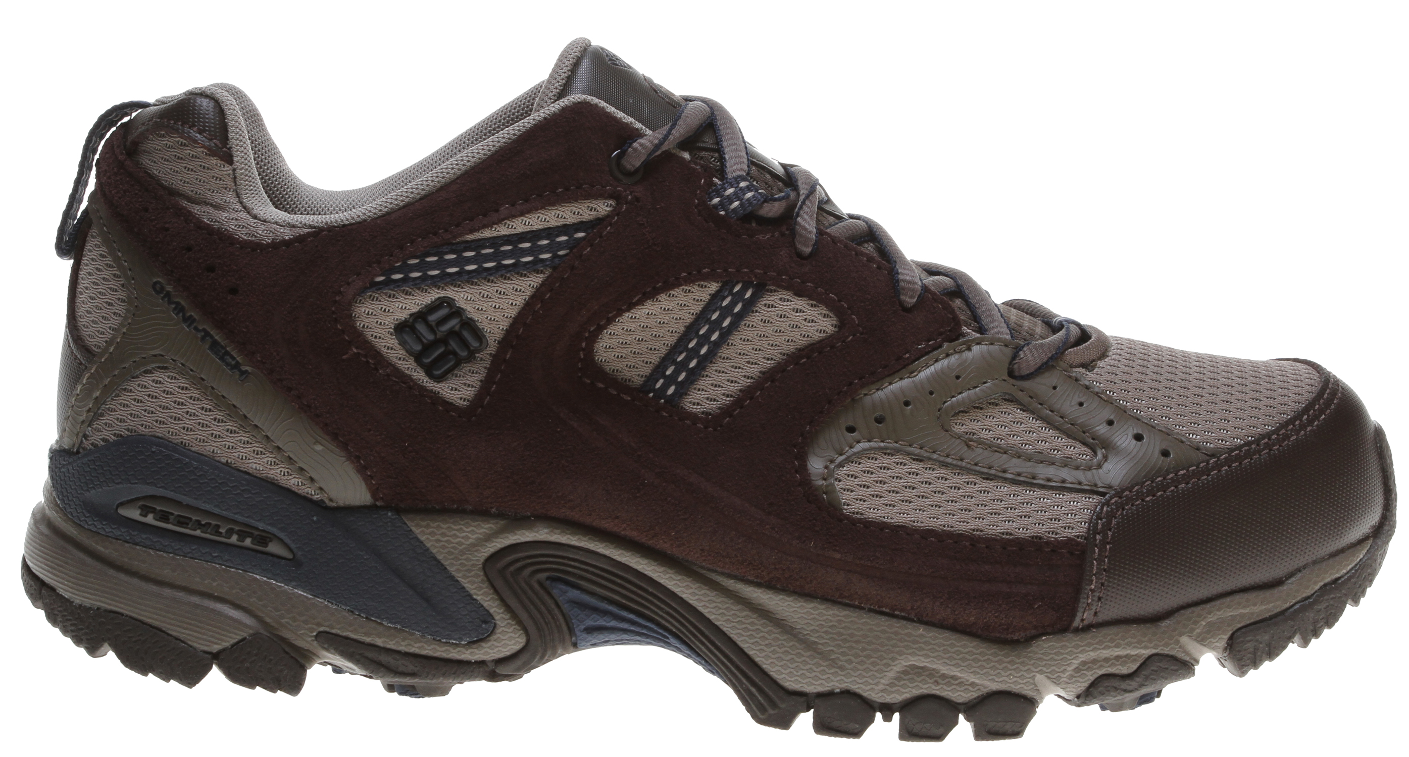 Camp and Hike A lightweight multi-functional shoe geared toward fast hiking and light running.Key Features of the Columbia Wallawalla 2 Low OT Hiking Shoes: UPPER: Combination suede leather, breathable mesh, waterproof Omni-Tech and webbing working together to create a great lock-down on the footbed. MIDSOLE: Multi-density Techlite under foot for exceptional cushioning and support. OUTSOLE: Omni-Grip non-marking outsole designed for a variety of trail surfaces. - $54.95