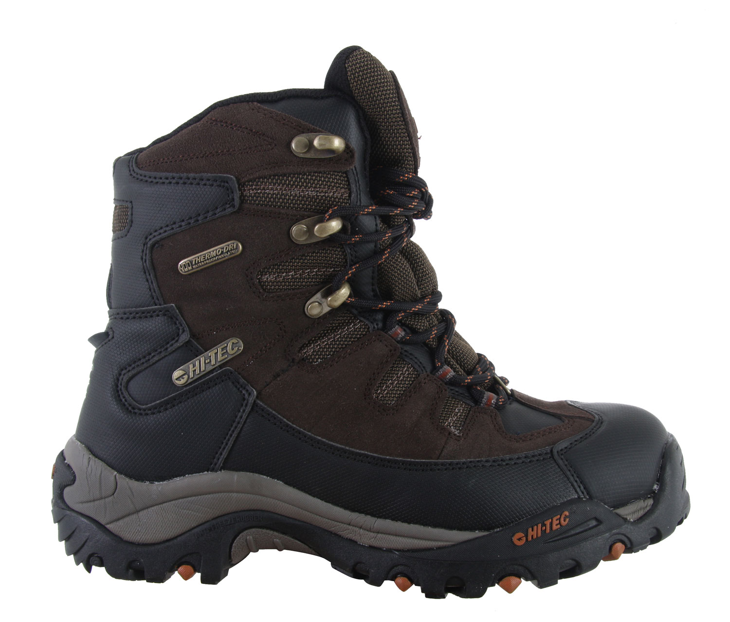 Camp and Hike Tired of getting soaked in the snow? In need of the perfect pair of boots to keep you warm, and protected all season long? The solution is this, the Hitec Jackson Hole 400 Casual Boots. Made with super high quality, this all in one boot features a waterproof construction. Block out all the snow and stay dry. With the right traction and cushion this boot has to offer, you'll feel comfortable. Go fight the snow with the Hitec Jackson Hole 400 Casual Boots and you'll be highly satisfied with the quality these boots have to offer.Key Features of the Hitec Jackson Hole 400 Casual Boots: Waterproof Suede Leather And Mesh Upper Thermo-Dri@ Waterproof And Insulated Systems Ghillie Lace System Metal Top Hooks Abrasion-Resistant Heel And Toecap For Protection Heel Kickoff Design For Easy Shoe-Removal Comfort-Tec Sockliner Waterproof Bootie Construction Board Lasted With Steel Shank For Added Rigidity Cmeva Midsole For Cushioning Winter Siping Outsole Pads For Winter Traction - $71.95