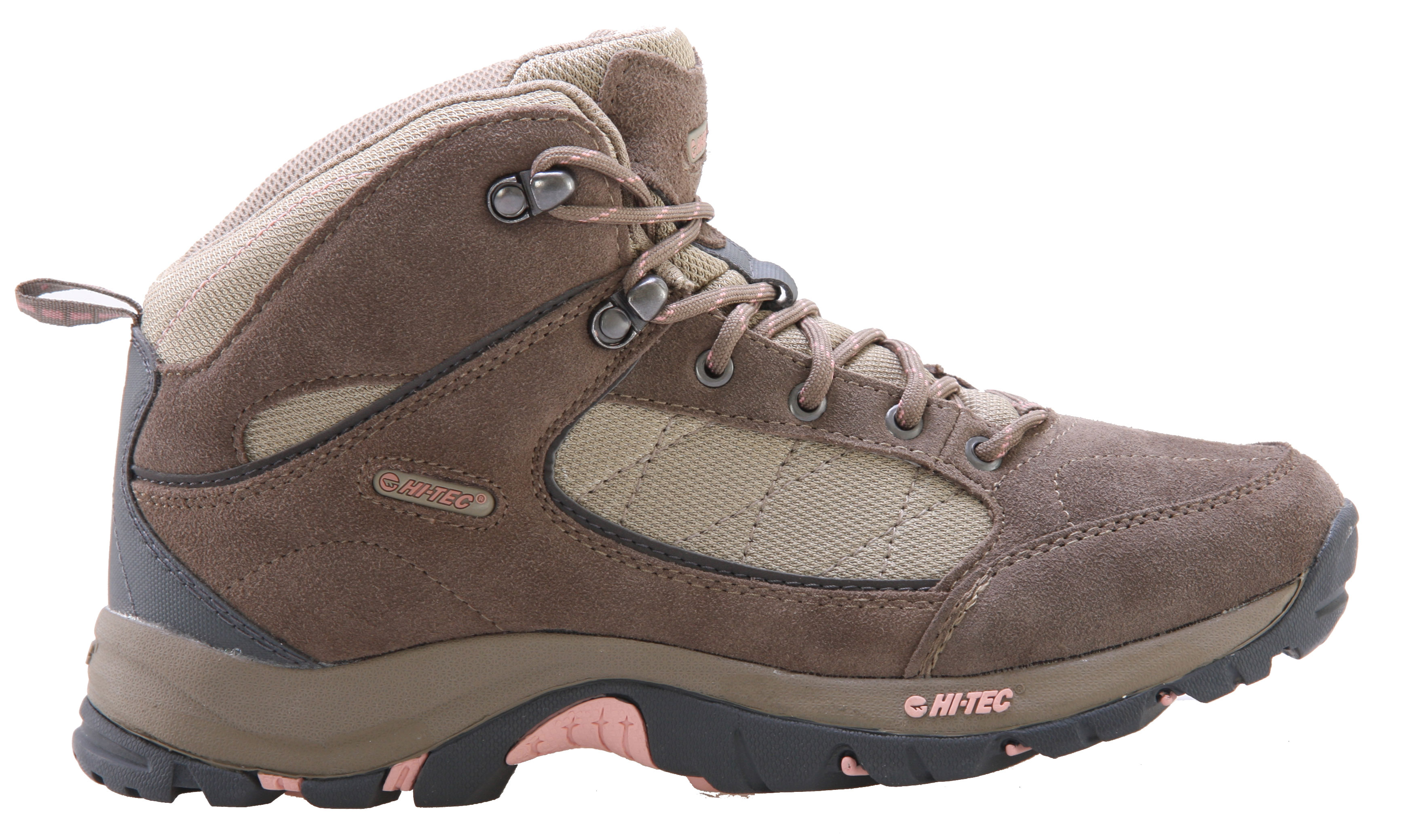 "Camp and Hike Hitec is quickly becoming one of the most popular names out there in the hiking and outwear industry and has become known for offering high quality gear for a price that turns a ""buy"" into a ""deal"". These Kuleni Mid Hiking Shoes give you the safety and comfort you need for long outdoor excursions, and the suede leather outer material makes them look great off the trail as well, giving you a versatile piece of footwear.Key Features of the Hitec Kuleni Mid Hiking Shoes: Suede Leather And Breathable Mesh Upper Rustproof Brass Eyelets Heel Abrasion-Resistant Panel For Protection Moisture Wicking Lining Womens Specific Last For Superior Fit And Performance Comfort Tec Contoured Sock Liner Board Lasted With Steel Shank For Added Rigidity Durable Mdt Carbon Rubber Hiking Outsole - $32.95"
