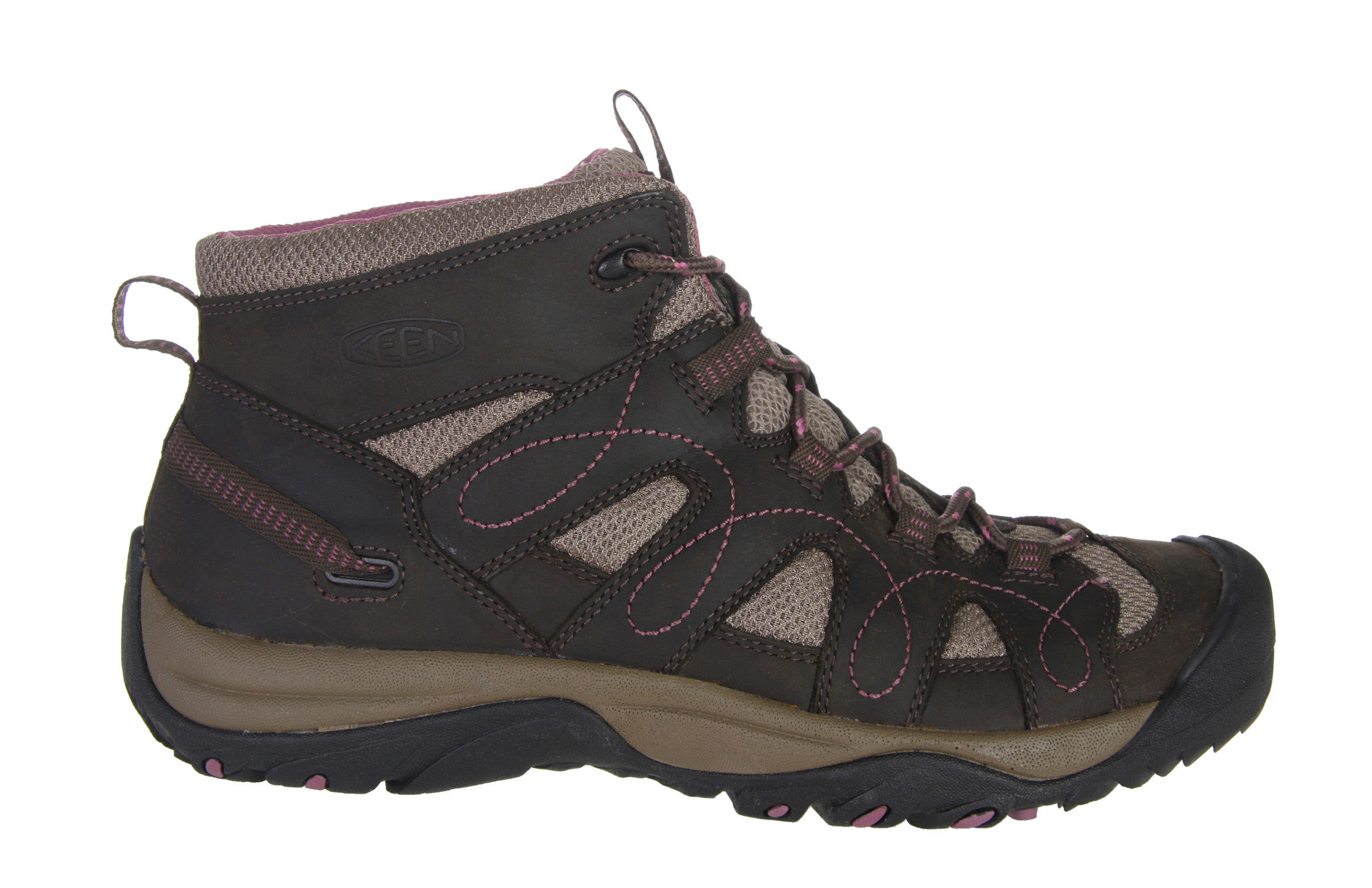 Camp and Hike For adventures in dry, warm climates, the breathable Shasta Mid makes an ideal and affordable all-around shoe for exploring canyons, scrambling up sand dunes or just kicking around town in classic KEEN comfort. The mid-ankle height provides support for carrying a pack or long days out on the trail.Key Features of The Keen Shasta Mid Women's Hiking Shoes: Leather with breathable mesh underlays Multi direction lug pattern for increased traction Non-marking rubber outsole Women's specific fit Metatomical Footbed Keen Protect - KEEN Patented Toe Protection where the shoe outsoles wrap up and over the toes for ultimate protection Weight: 13.7 oz / 388 GRAMS Fit Tip: We find this style runs about a 1/2 size small Upper: Leather Rubber: Non-marking rubber outsole Activities: Hiking Type: Boots, Shoes, Lace Up - $79.95