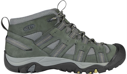 Camp and Hike For adventures in dry, warm climates, the breathable Skiskiyou Mid makes an ideal and affordable all-around shoe for exploring canyons, scrambling up sand dunes or just kicking around town in classic KEEN comfort. The mid-ankle height provides support for carrying a pack or long days out on the trail. Key Features of the Keen Siskiyou Mid Hiking Shoes: Dual density PU footbed Dual density PU midsole Leather upper with breathable mesh underlays Non Marking rubber outsole Rugged multi-directional traction lugs Weight: 18.1 OZ / 513 GRAMS Fit Tip: We find this style runs about a 1/2 size small. Lining: Moisture Wicking Textile Upper: Leather, Synthetic Rubber: Non-Marking - $64.95