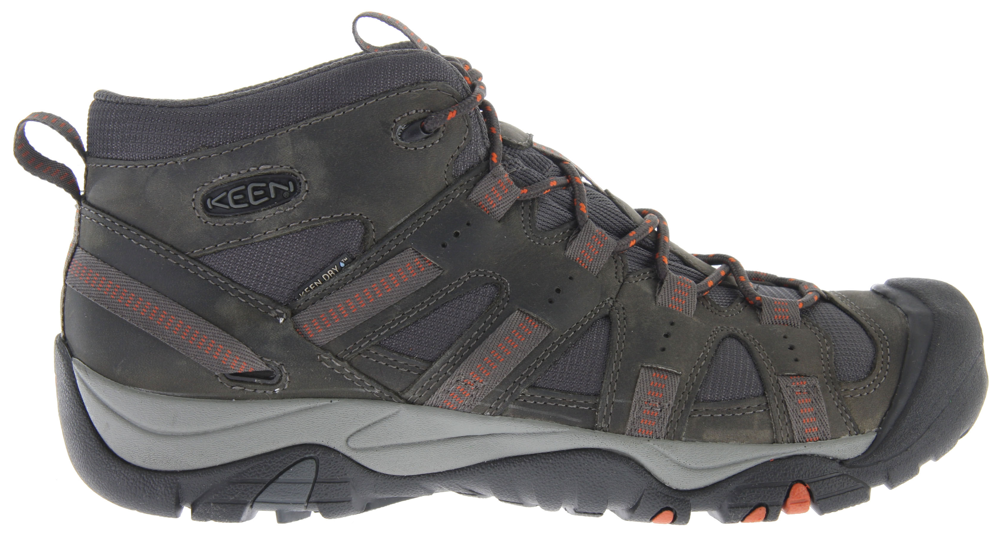 Camp and Hike Key Features of the Keen Siskyou Mid WP Hiking Shoes: Waterproof nubuck leather upper and breathable mesh upper KEEN.DRY waterproof breathable membrane Removable metatomical dual density EVA footbed Single density PU midsole 3mm multi directional lugs Non-marking rubber outsole - $89.95