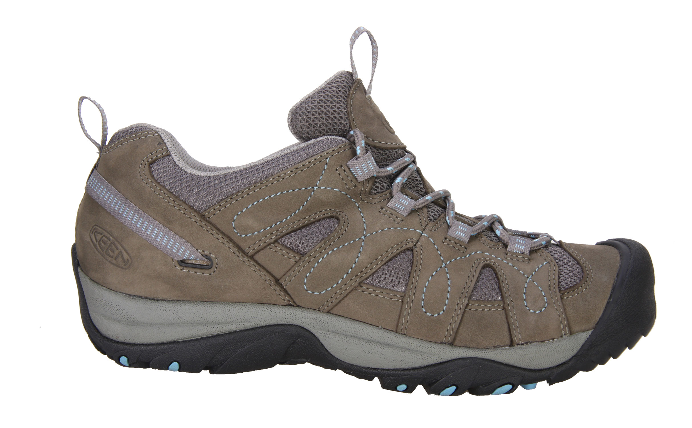 Camp and Hike For adventures in dry, warm climates, the breathable Shasta makes an ideal and affordable all-around shoe for exploring canyons, scrambling up sand dunes or just kicking around town in classic KEEN comfort. The low cut offers athletic performance in a lightweight and nimble package.Key Features of The Keen Shasta Low Women's Hiking Shoes: Leather with breathable mesh underlays Multi direction lug pattern for increased traction Non-marking rubber outsole Women's specific fit Metatomical Footbed Keen Protect - KEEN Patented Toe Protection where the shoe outsoles wrap up and over the toes for ultimate protection Weight: 13.5 OZ / 383 GRAMS WOMEN Fit Tip: We find this style runs about a 1/2 size small Upper: Leather Rubber: Non-marking rubber outsole Activities: Hiking Type: Shoes, Lace Up - $57.95