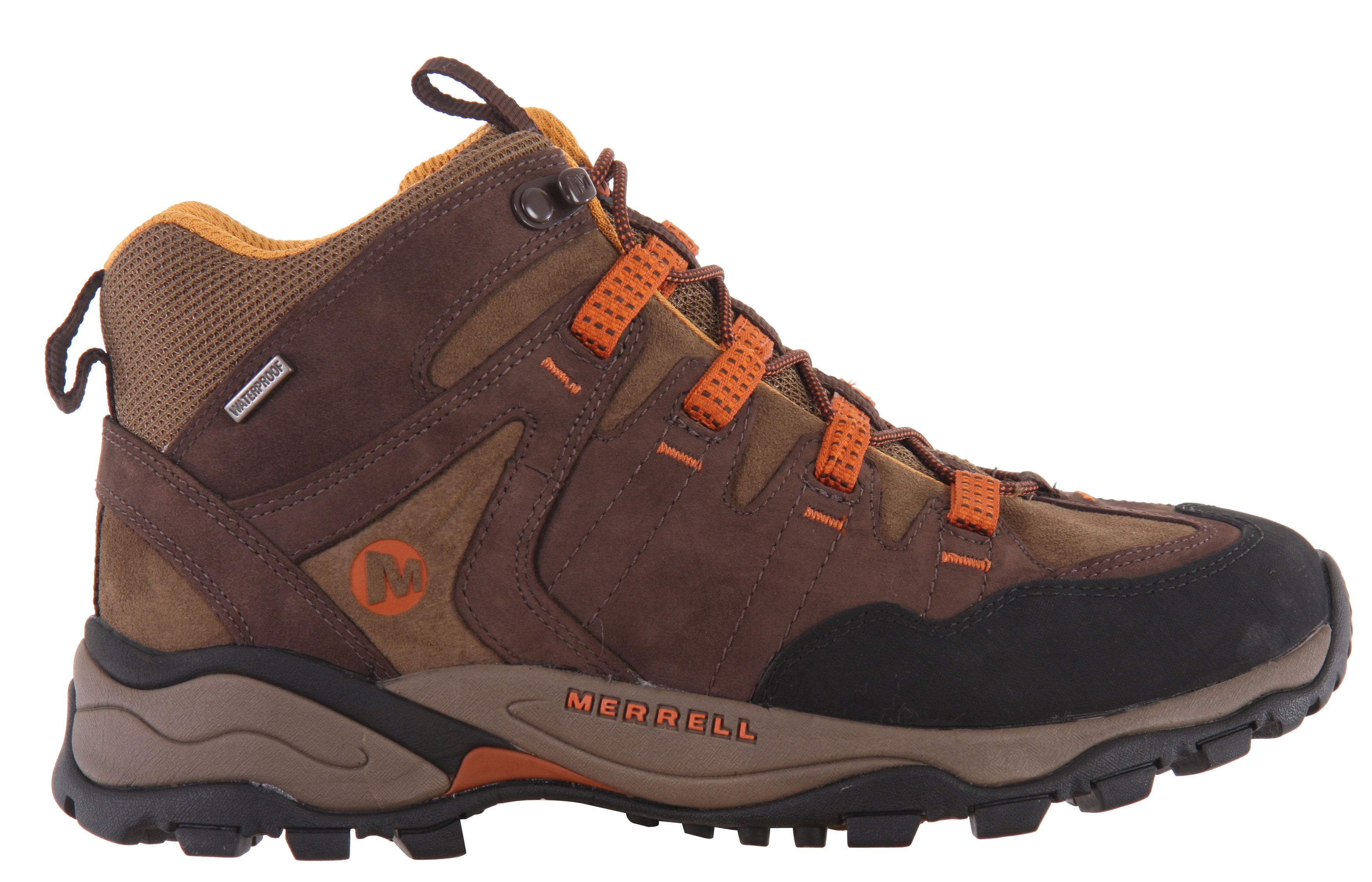 Camp and Hike You can play around with Mother Nature longer and through it all in omni-comfort when you're cinched into these empowered explorers - Merrell Pandora Mid Omni Fit Hiking Shoe. A wider platform anchored by aggressive lugs instills confidence in a pretty package, and its antimicrobial waterproof lining keeps water where it and you belong,outside.Key Features of the Merrell Pandora Mid Omni Fit Hiking Shoes: Strobel construction offers flexibility and comfort Nubuck, pig suede leather and mesh upper Omni-Fit Lacing system provides a precise, glove-like it Bellows tongue keeps debris out Abrasion resistant toe cap Waterproof Membrane treated with an antimicrobial solution provides impermeable but breathable barrier Breathable mesh lining treated with an antimicrobial solution maintains foot comfort Recycled Poliyou footbed with active carbon to control moisture and ensures breathability Molded nylon arch shank QForm Comfort midsole provides women's specific stride-sequenced cushioning Merrell Air Cushion in the heel absorbs shock and adds stability 5.0mm Sole lug depth Vibram Pandora Sole/TC5+ Rubber - $74.95
