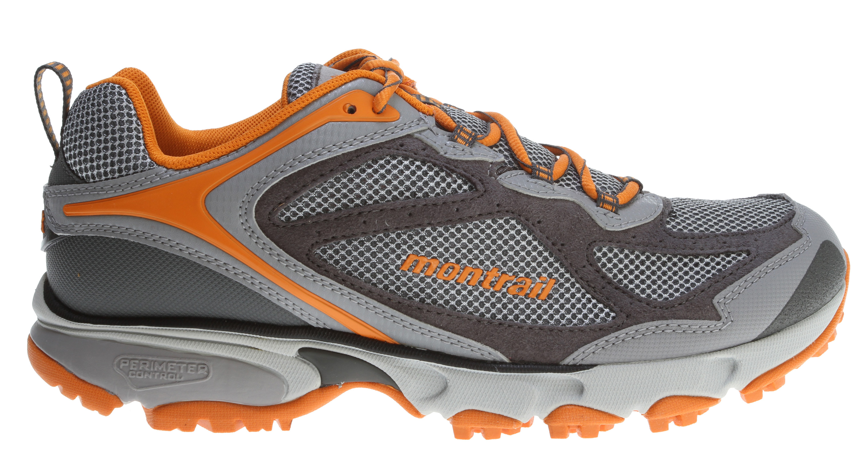 Camp and Hike Performance running shoe built for stability and protection on the trail.Key Features of the Montrail Sabino Trail Hiking Shoes: Weight: 12.8 oz / 363 g Durometer: Medial Post 68 Asker C / 58 Asker C (+/-3 degrees) Fit Notes: Wider forefoot - $69.95