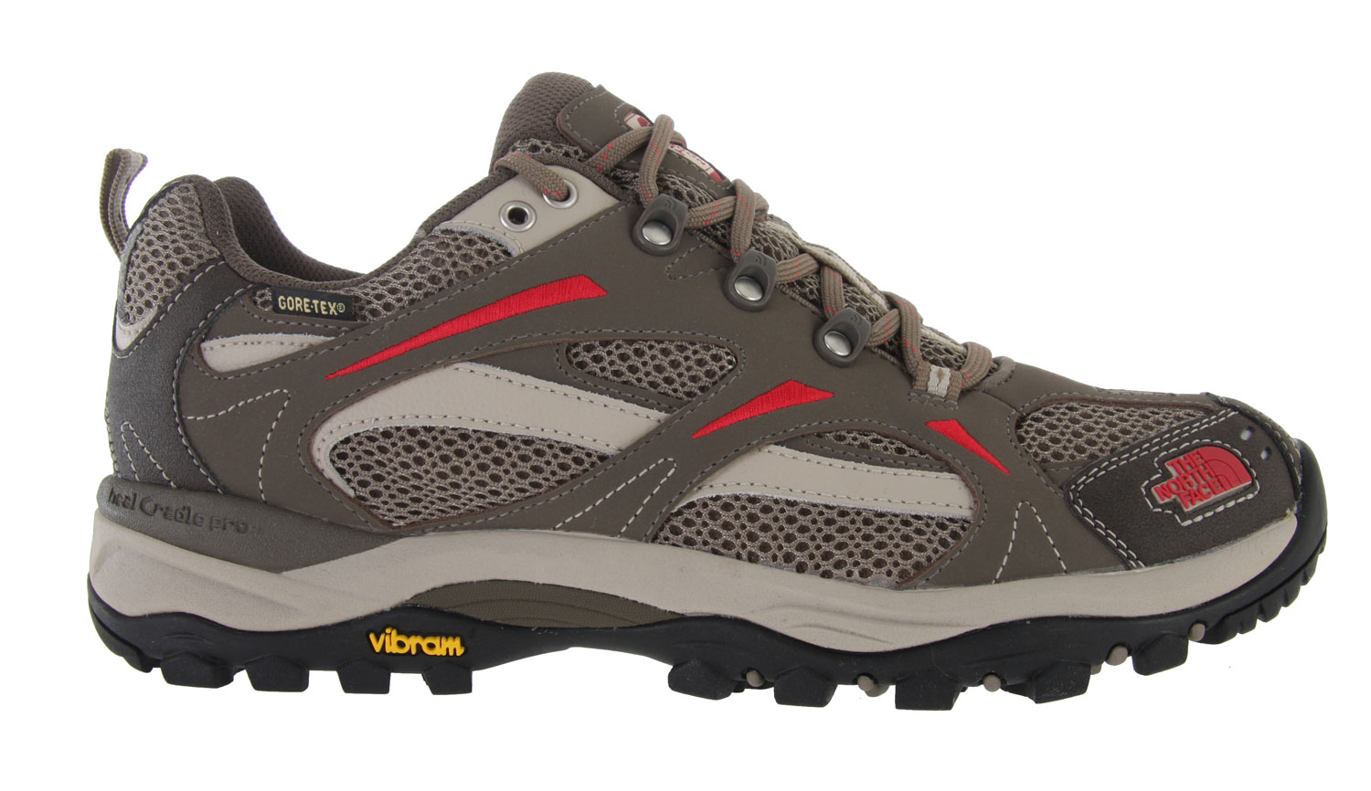 Camp and Hike The North Face Hedgehog 3 GTX Hiking Shoe is the latest update to our best-selling Hedgehog and still incorporates everything you need in a light hiker, featuring a protective, waterproof and breathable upper with GORE-TEX and a women's specific, lightweight, supportive bottom unit with Vibram rubber for secure traction in almost any conditions.Key Features of The North Face Hedgehog 3 GTX Hiking Shoes: GORE-TEX Extended Comfort Range waterproof, breathable membrane PU-coated leather upper with breathable mesh panels Northotic Pro upgraded EVA footbed with Poron ReSource heel and forefoot cushioning pads and ESS Heal Cradle Pro support X-2 dual-density, compression-molded EVA midsole with Heal Cradle Pro rearfoot support system Injection-molded TPU shank plate Exclusive lightweight Vibram rubber outsole - $70.95