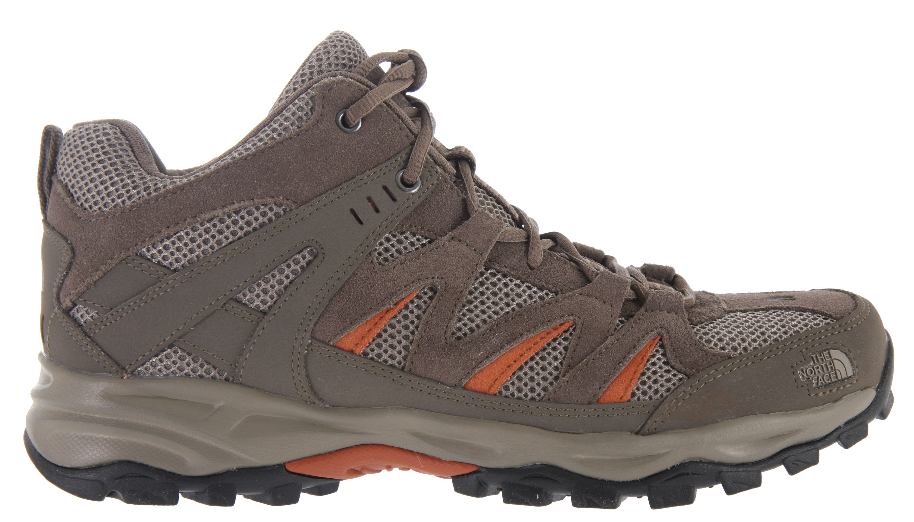 Camp and Hike Designed for light backpacking or hiking, the North Face Tyndall Mid Hiking Shoe is lightweight, streamlined, mid-cut hiker is built with high-traction UltrATAC outsole and a breathable mesh/leather upper.Key Features of The North Face Tyndall Mid Hiking Shoes: Injection-molded EVA midsole Midfoot steel shank High-abrasion UltrATAC rubber outsole Upper: Combination polyurethane (PU)-coated and suede leather upper with breathable air mesh Dual-density Northotic footbed Approx Weight pair: 1 lb 13 oz (820 g) - $54.95