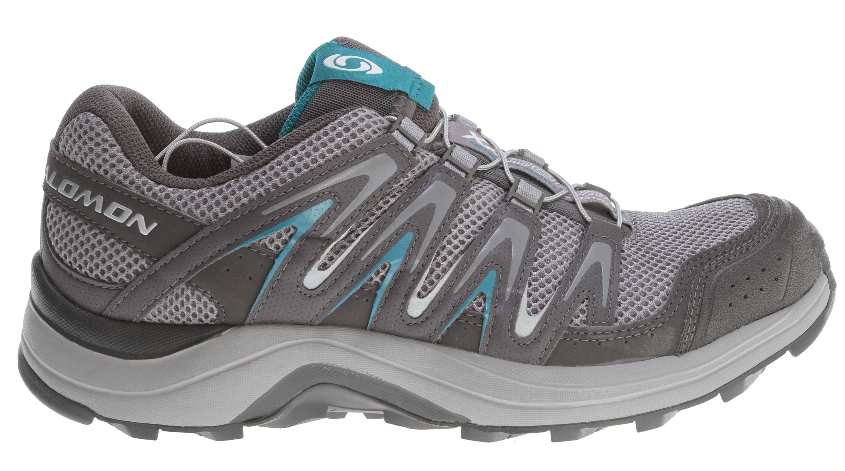 Camp and Hike Stable, comfortable trail shoe for fast hiking and some running.  XA Comp 7 sports a low profile chassis and midsole, new lug geometry for better grip, and outstanding cushioning.Key Features of the Salomon XA Comp 7 Hiking Shoes:  Weight: 10.1oz  Quick drying breathable mesh  Textile  Strategically placed textile parts  Lace pocket  Sensifit   Protective rubber toe cap  Quicklace   Optimized fit for women  Tongue cover  Contagrip HA  Non marking running Contagrip  Ortholite sockliner  Molded EVA midsole  Midsole height: 11mm/21mm - $83.95